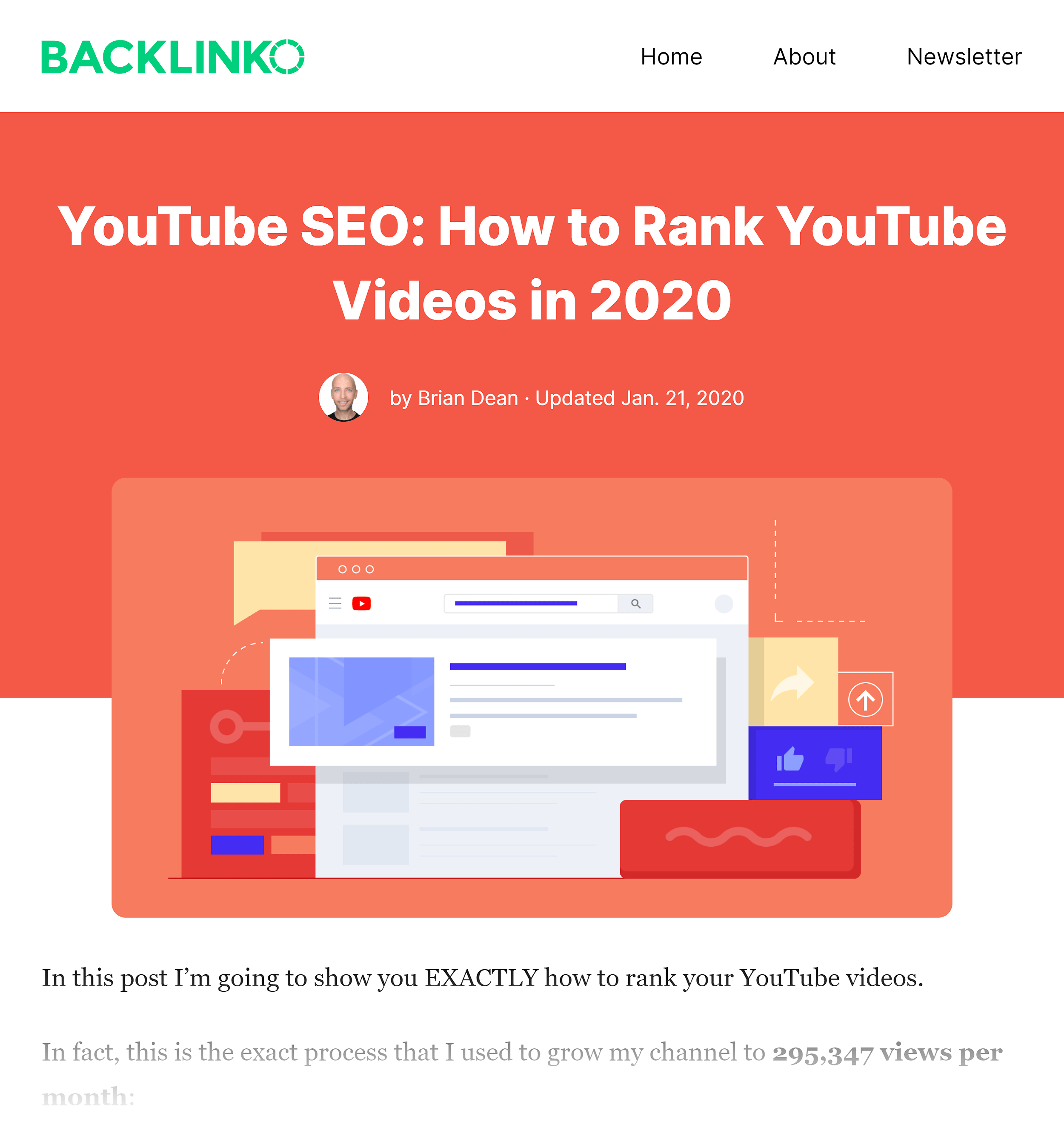 Backlinko – How to rank YouTube videos post