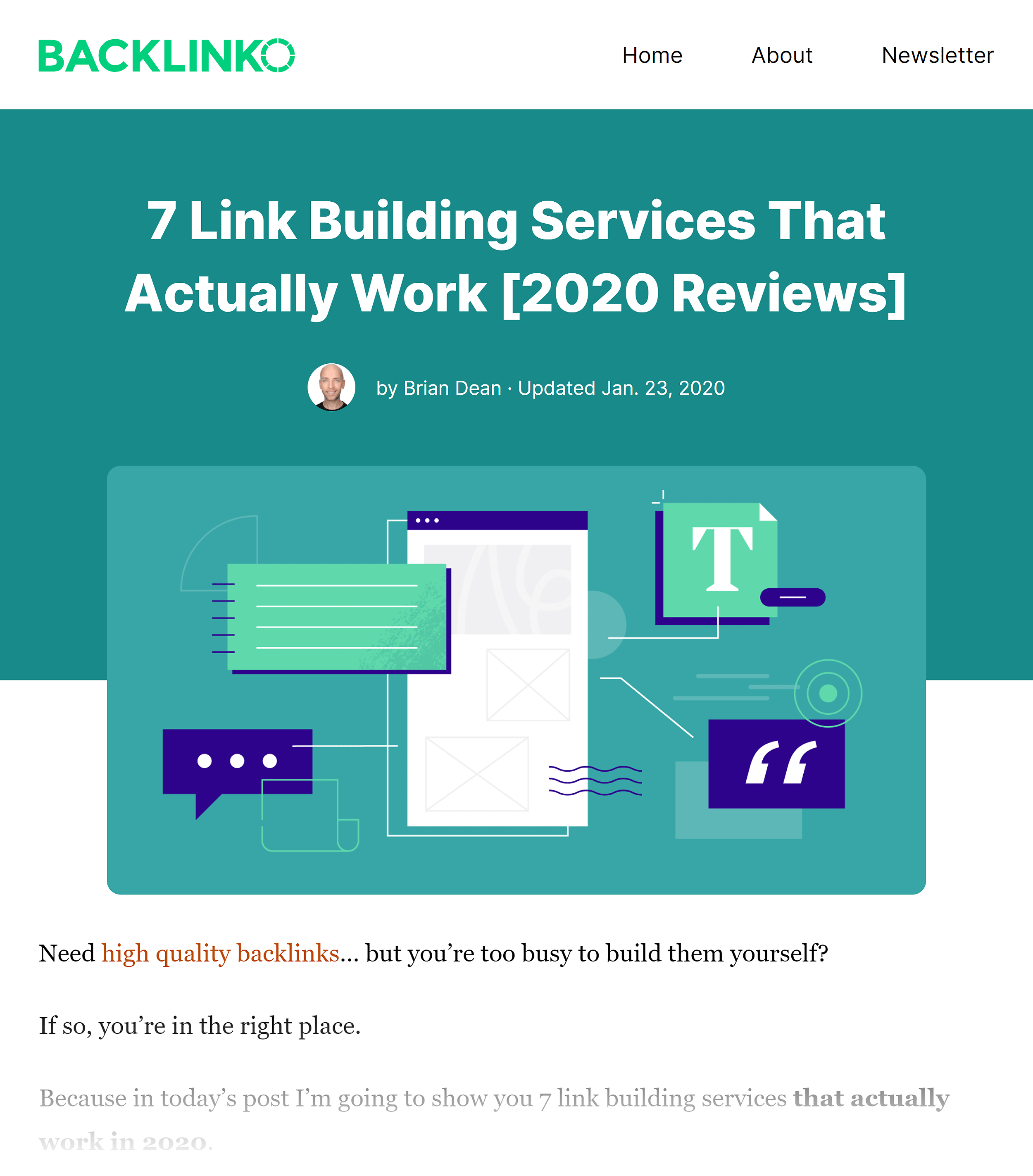 Backlinko – Link building services post