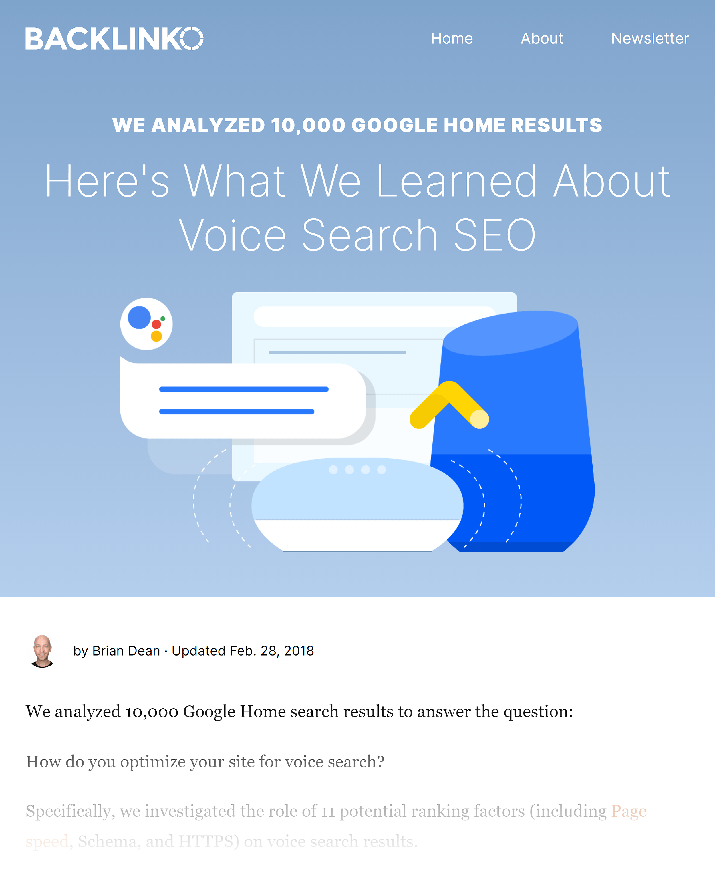 Backlinko – Voice search SEO study