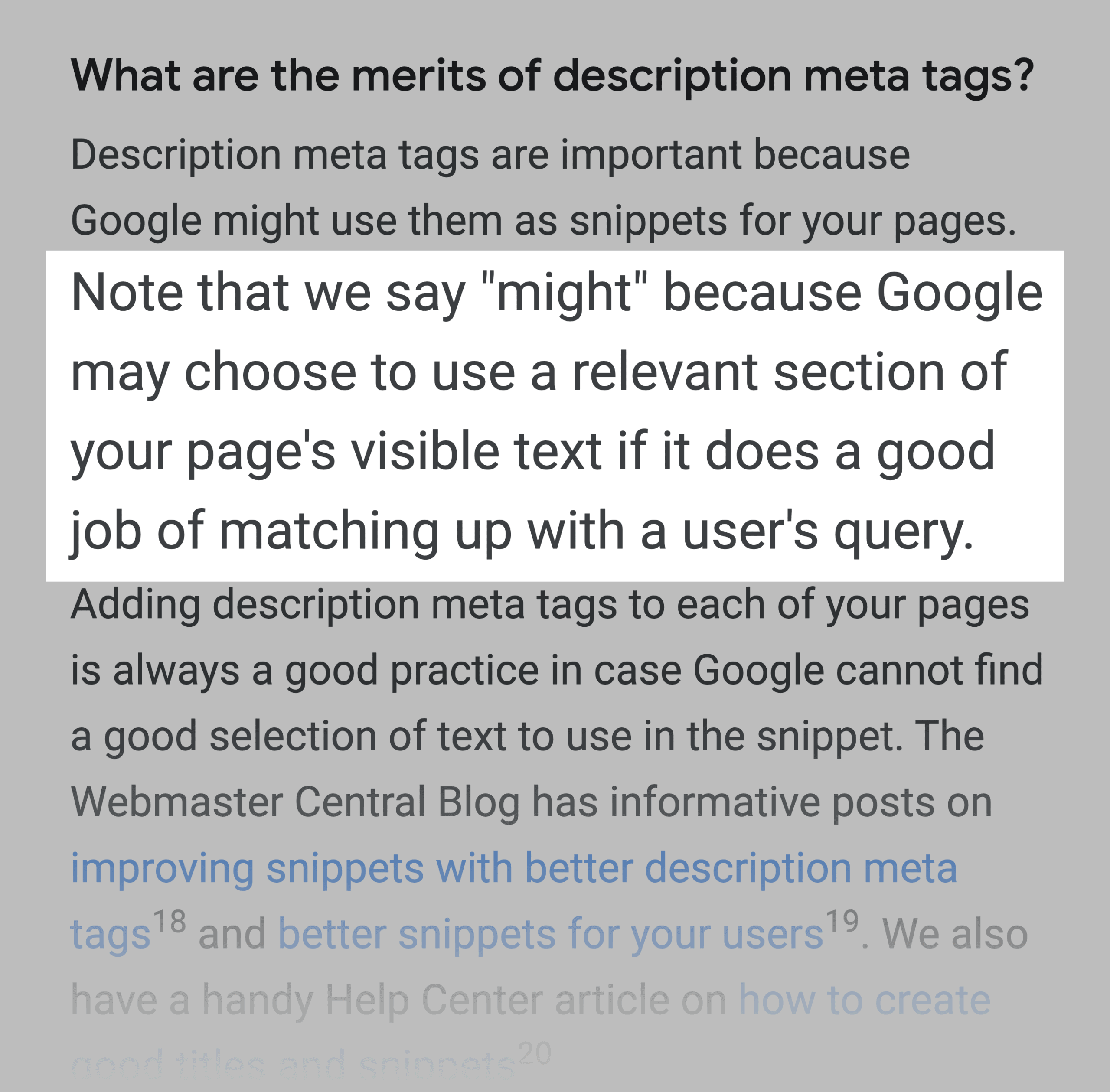 Google Will Often Replace Meta Description With Content From Page