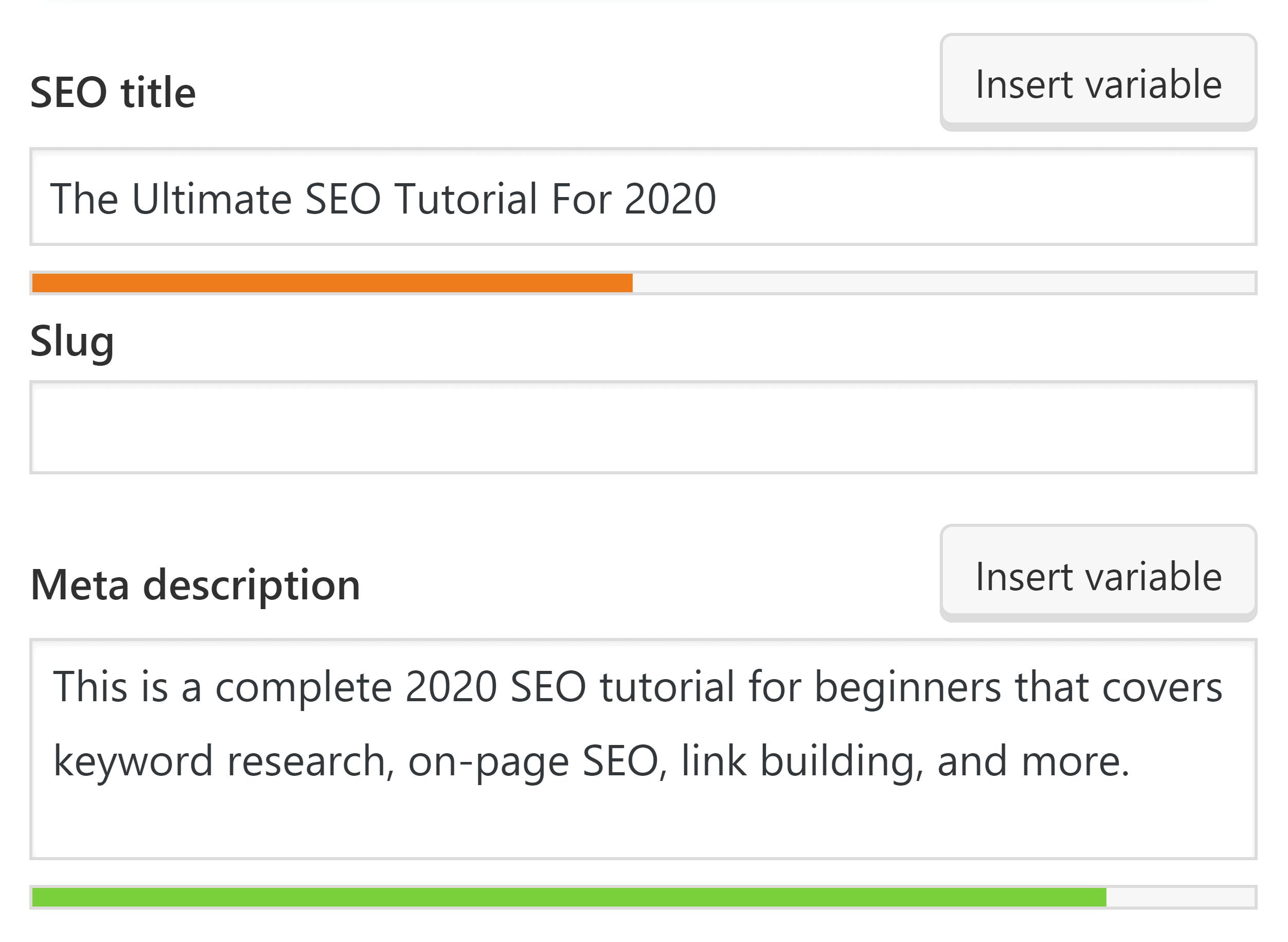 Yoast SEO plugin optimization