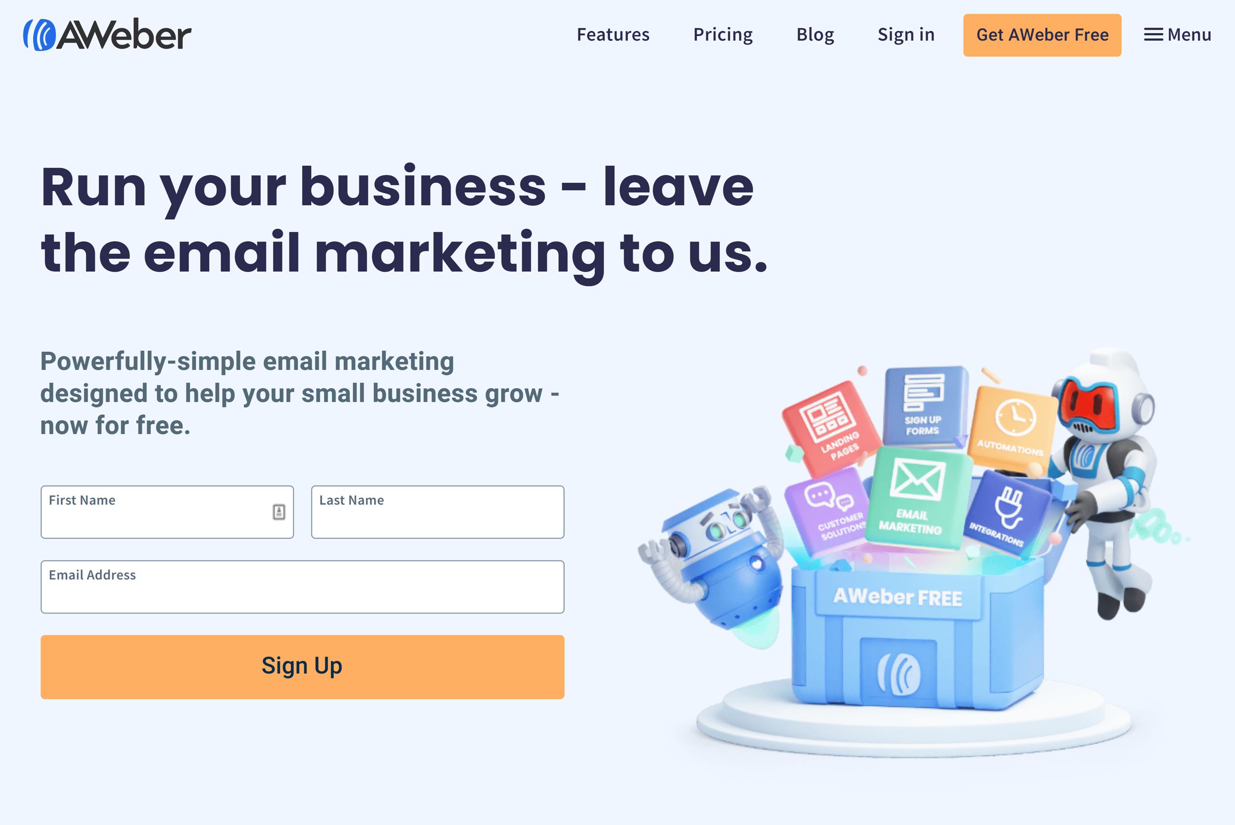 AWeber – Homepage