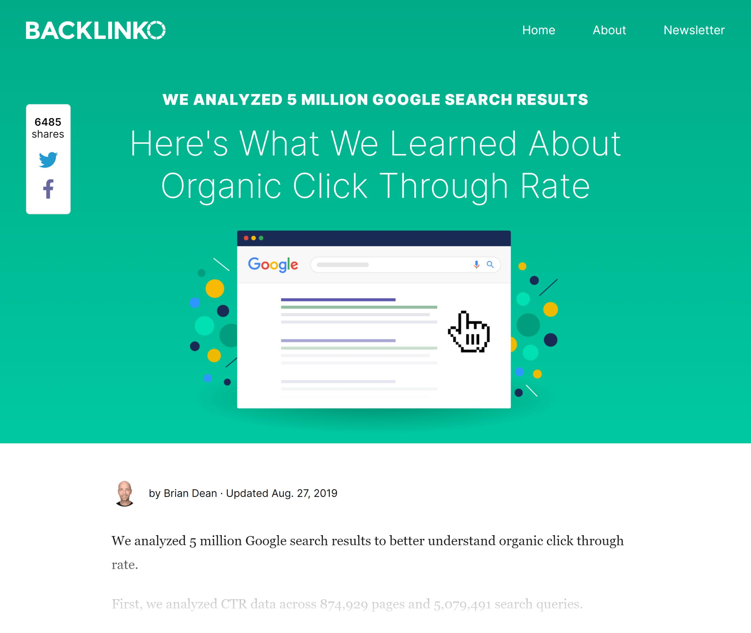 Backlinko – Google CTR stats