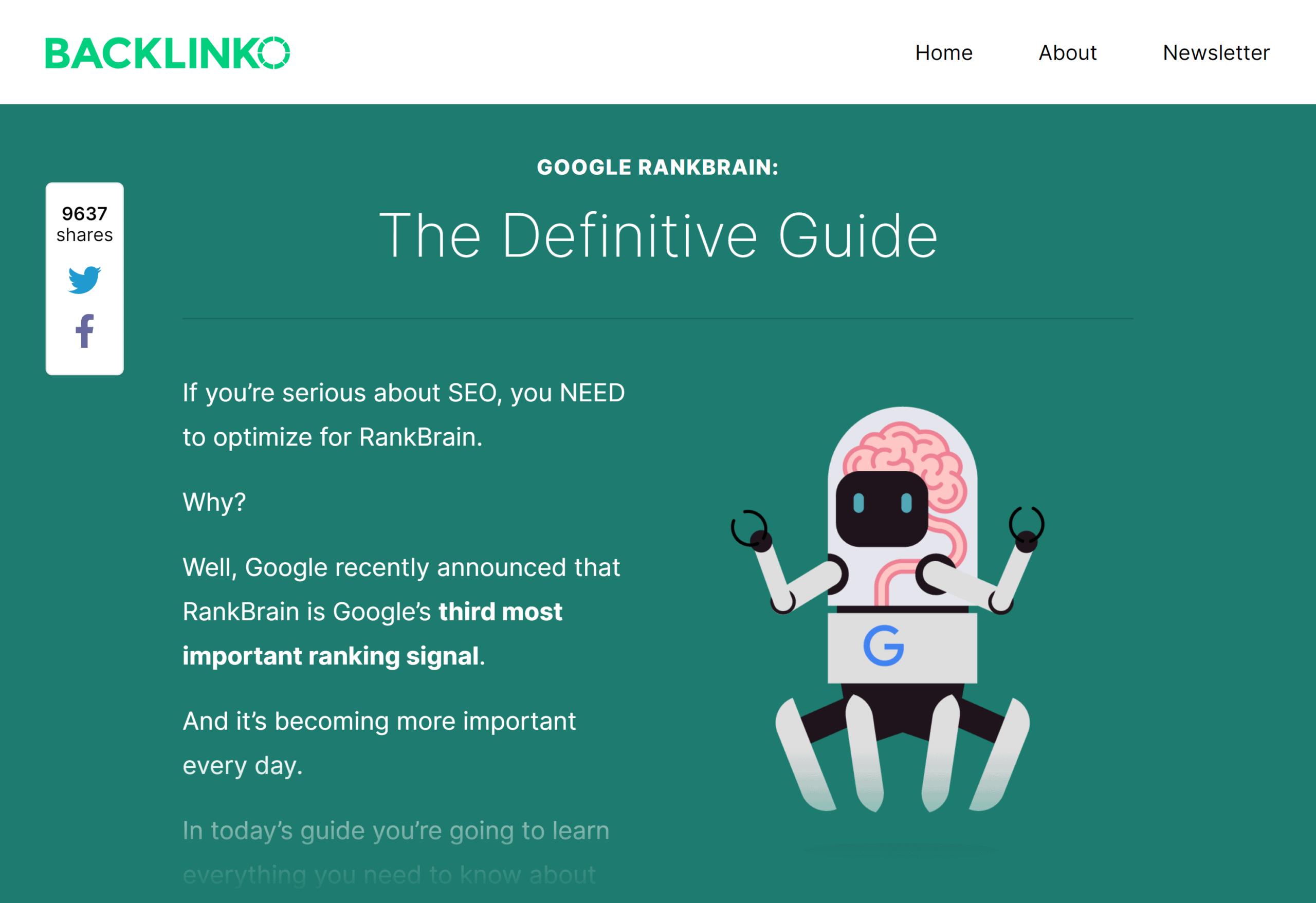 Backlinko – Google RankBrain SEO guide