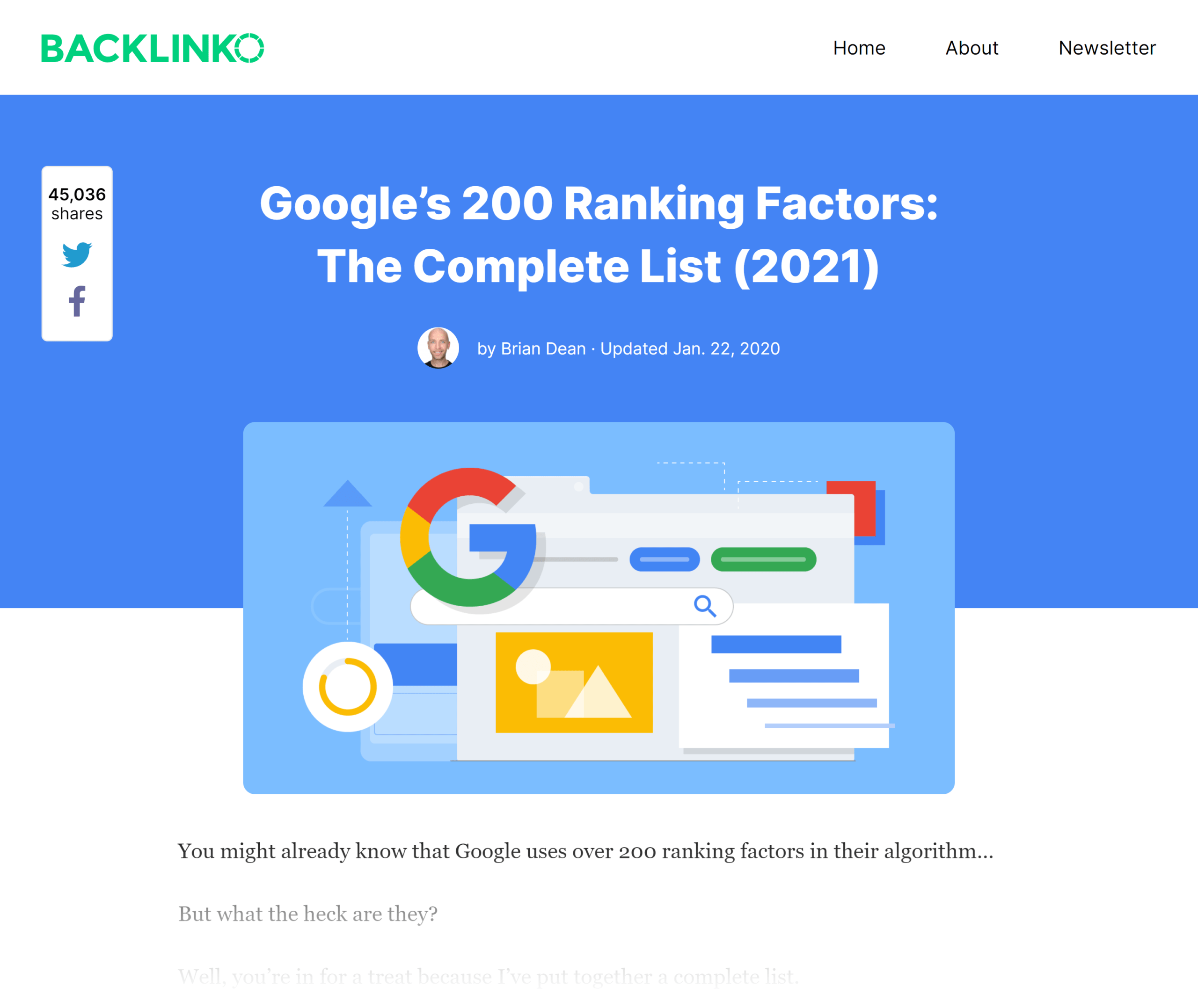 Backlinko – Google ranking factors