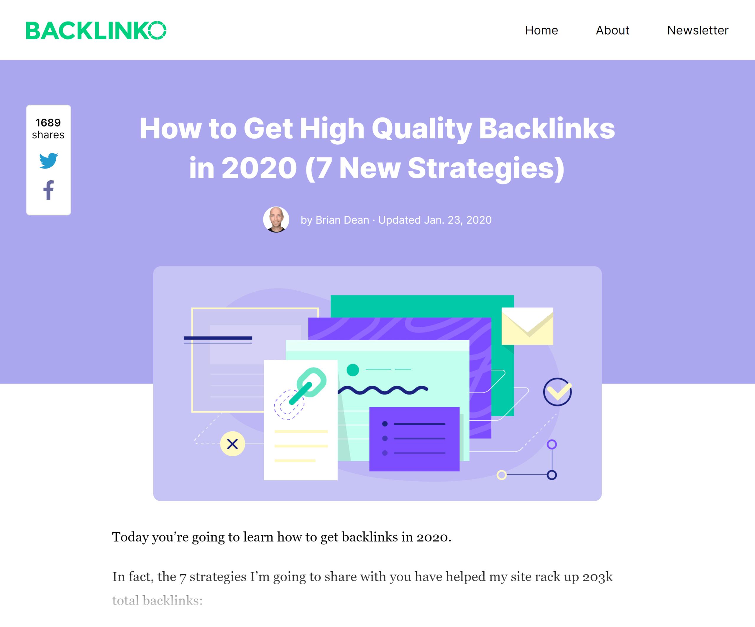 Backlinko – High Quality Backlinks post