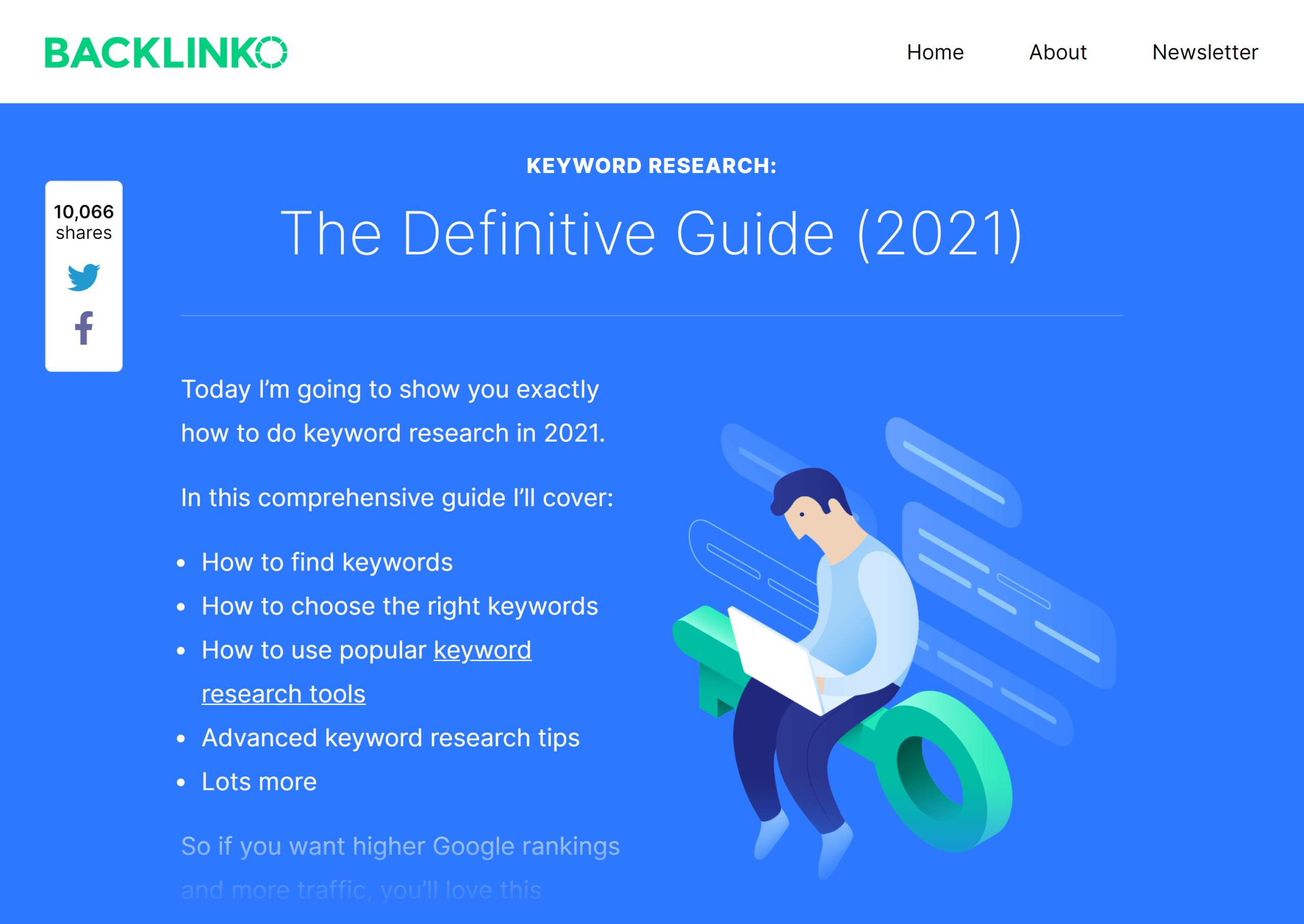 Backlinko – Keyword Research guide