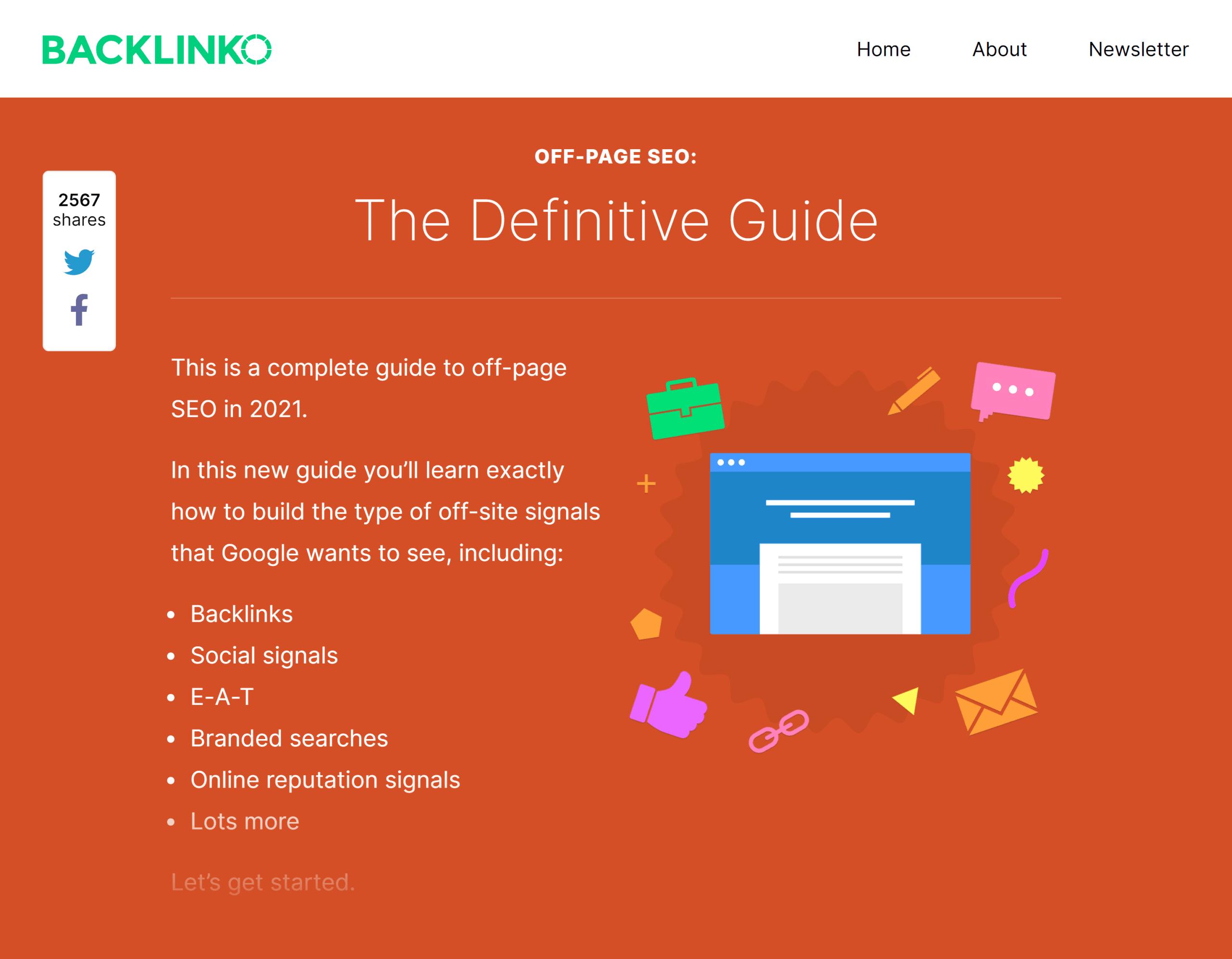 Backlinko – Off-page SEO guide