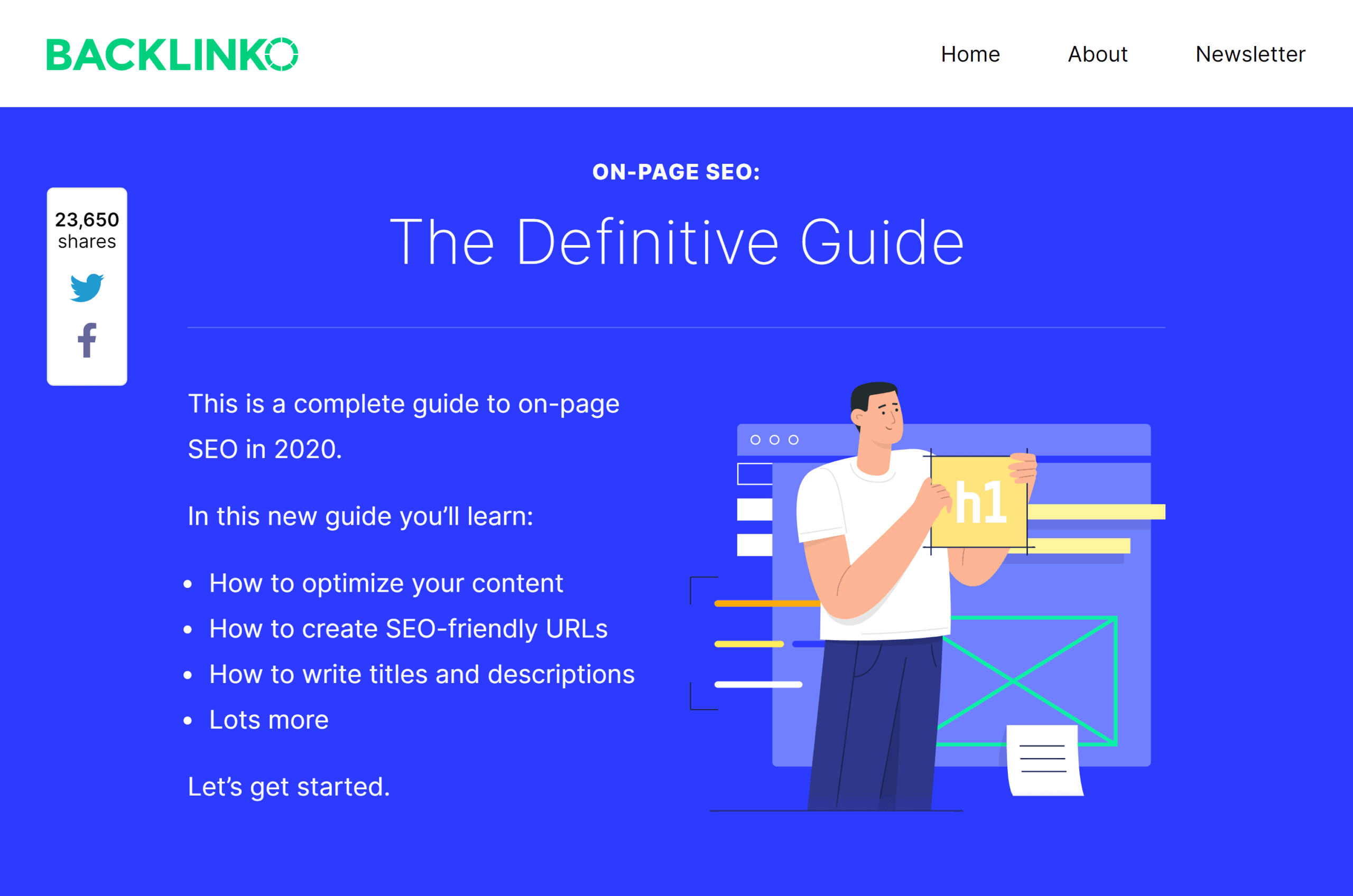 Backlinko – On-page SEO guide