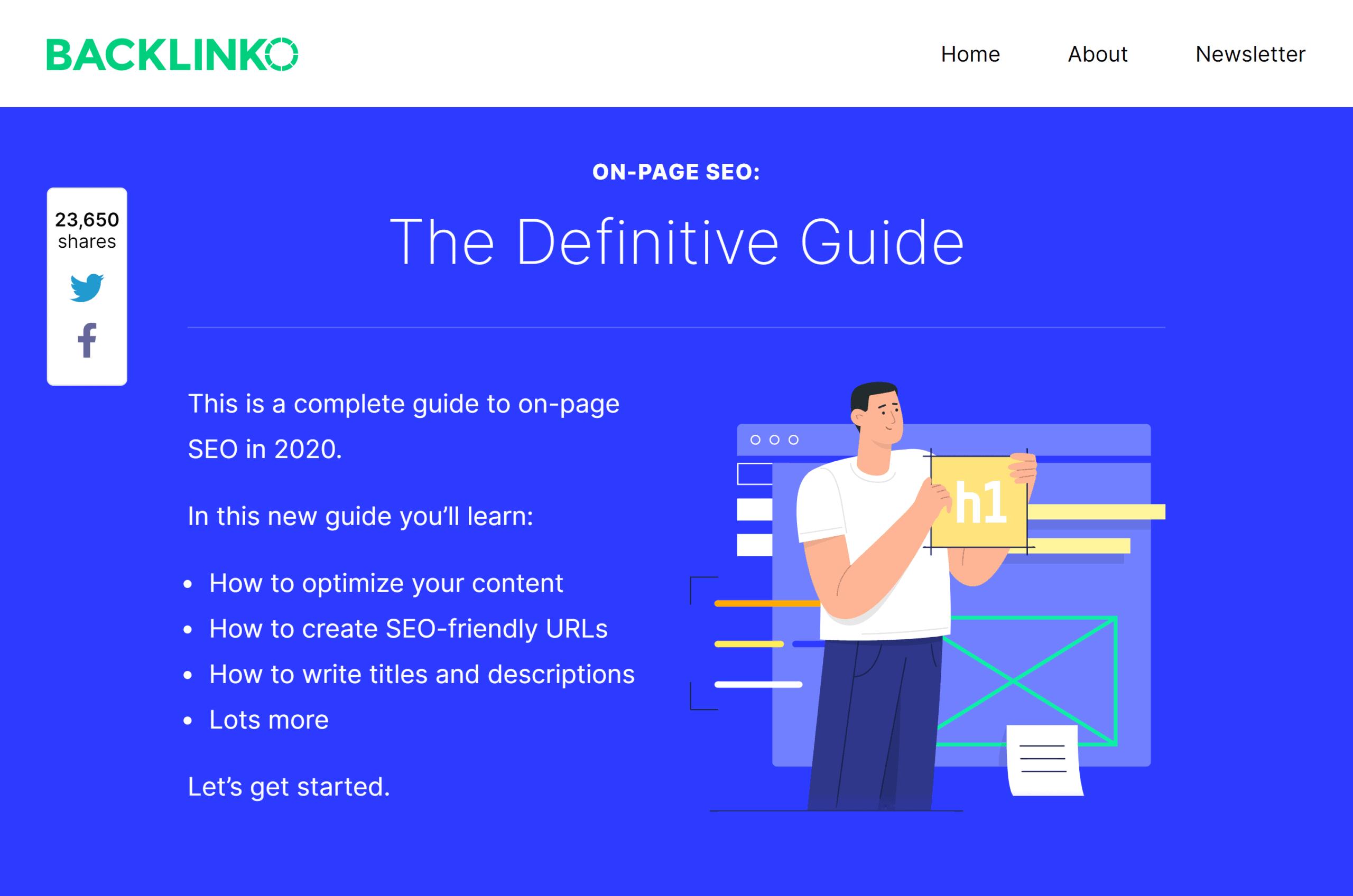 Backlinko – On-page SEO guide