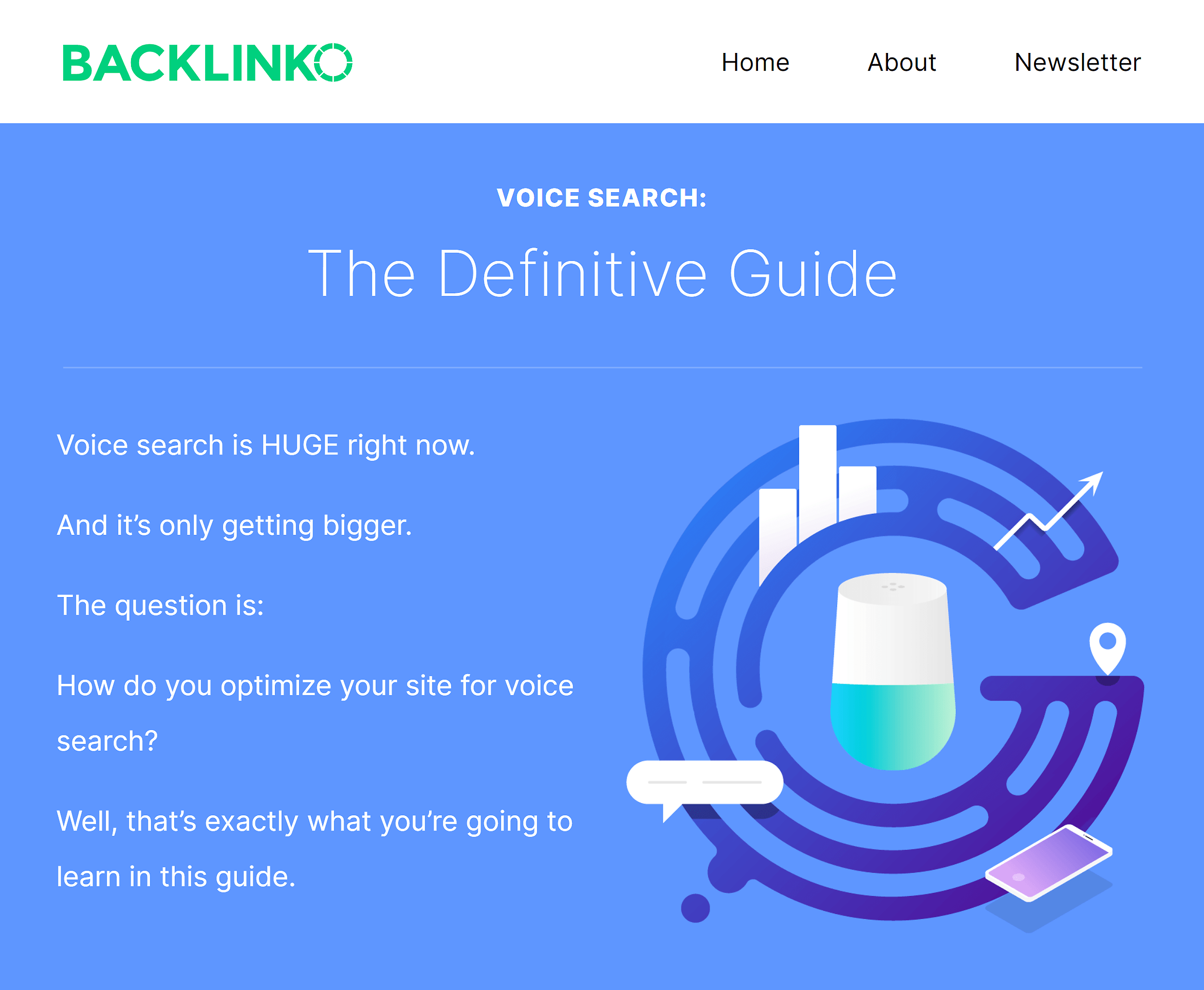 Backlinko – Optimize for voice search – Intro