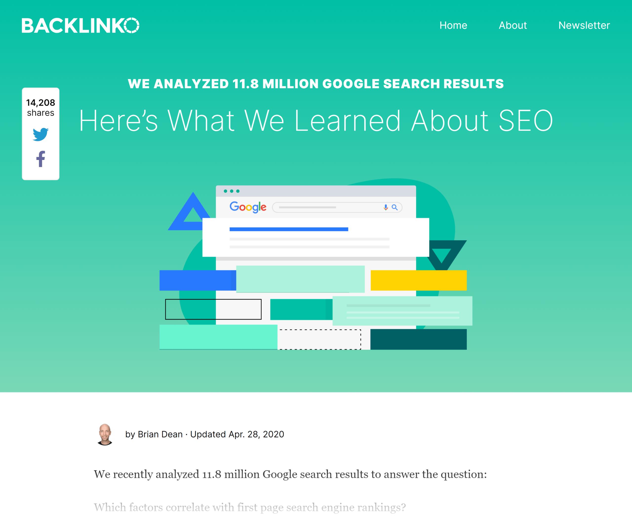 Backlinko – Search engine ranking