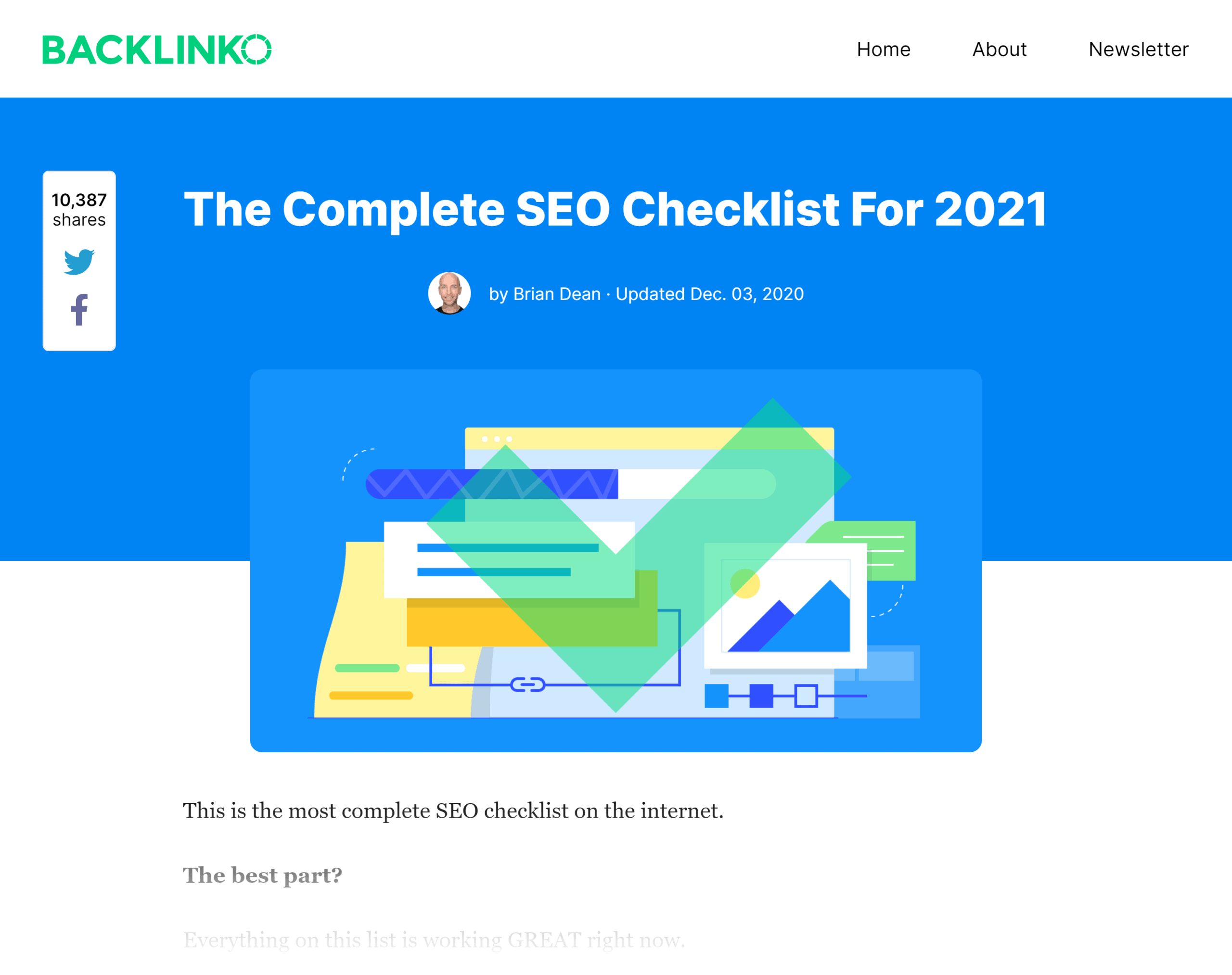Backlinko – SEO Checklist