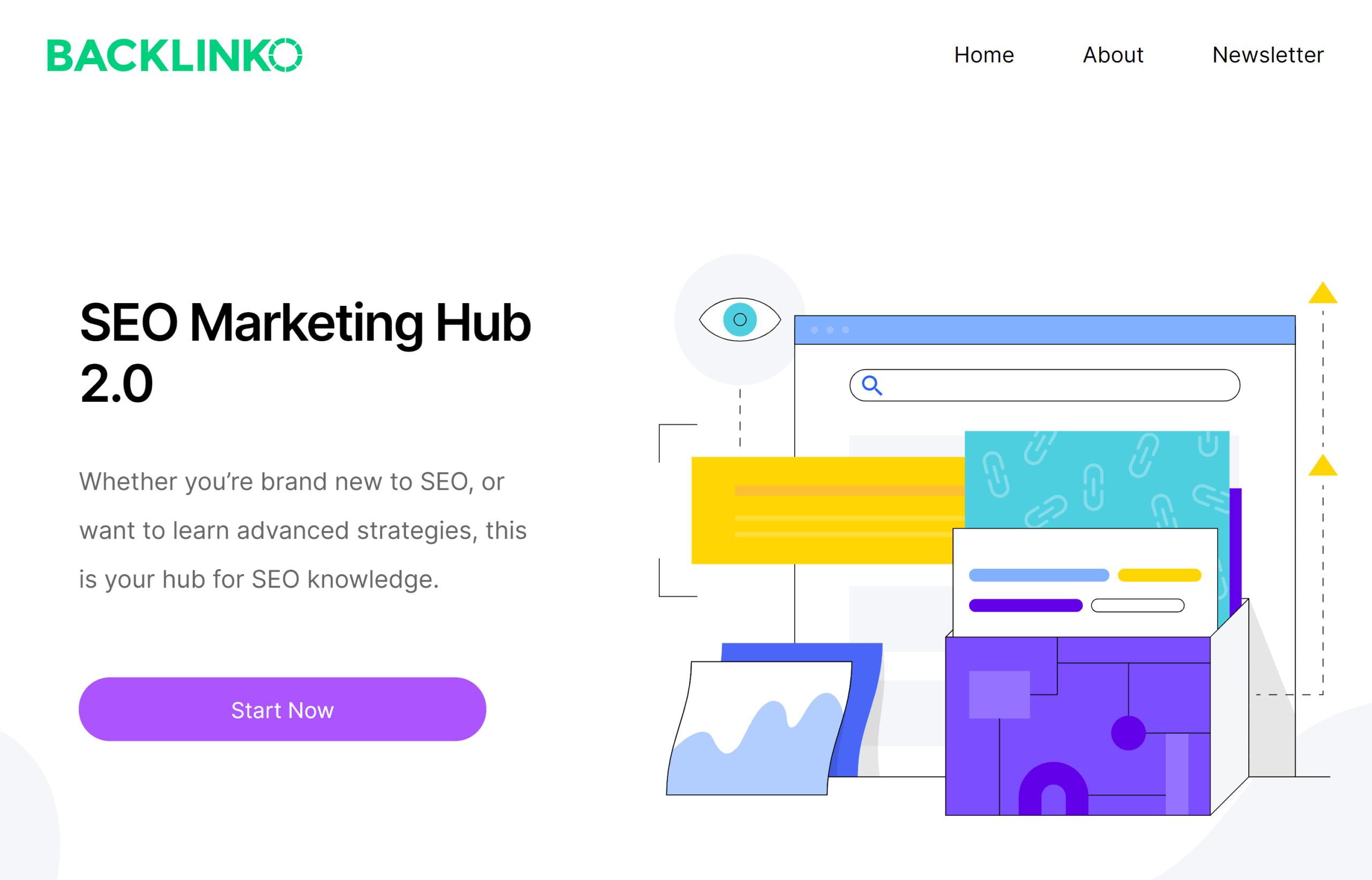 Backlinko – SEO Marketing Hub