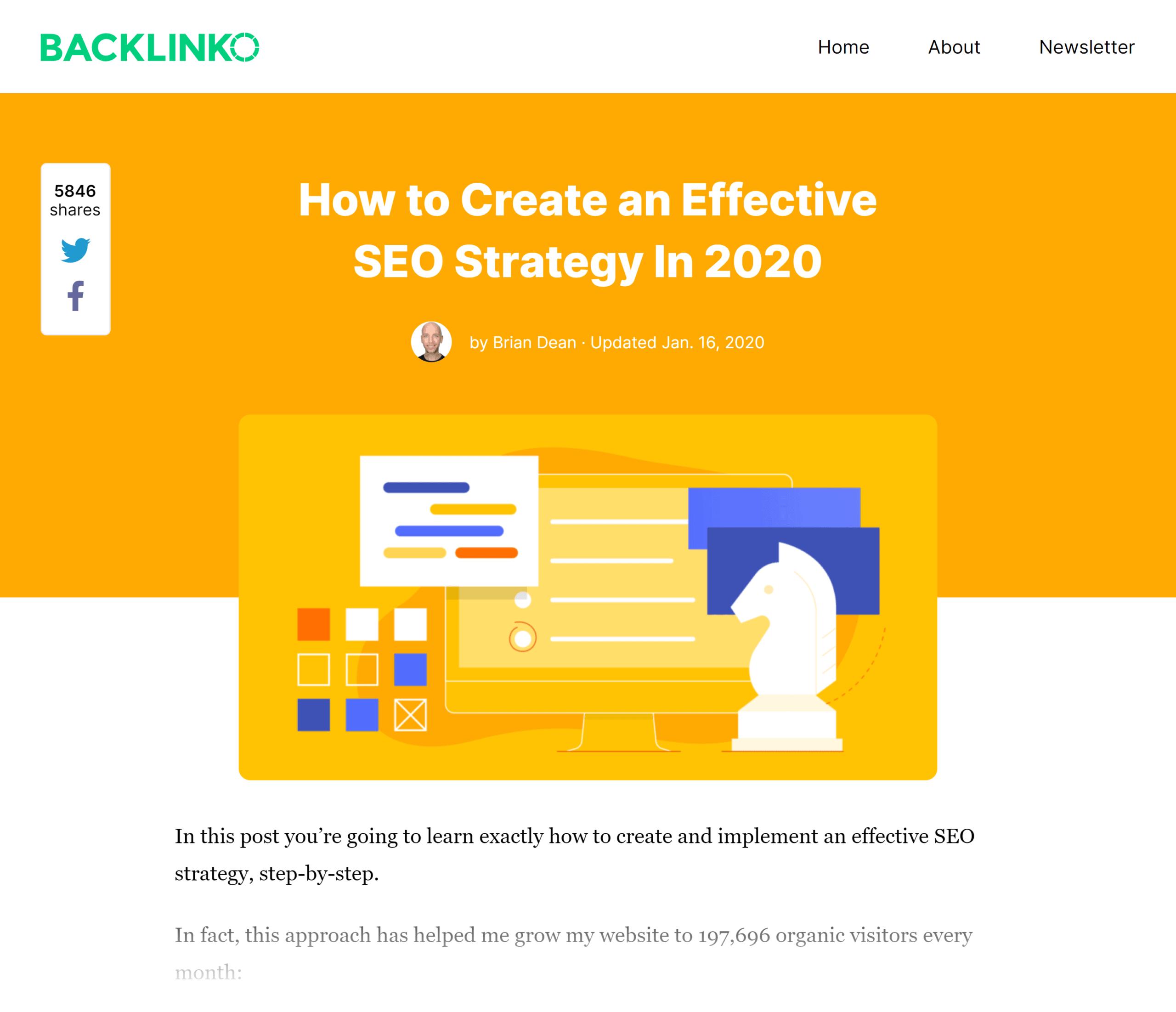 Backlinko – SEO Strategy post