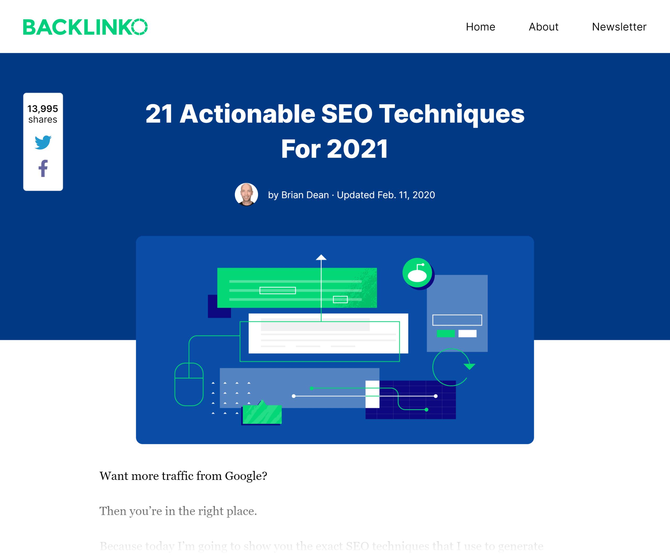 Backlinko – SEO techniques