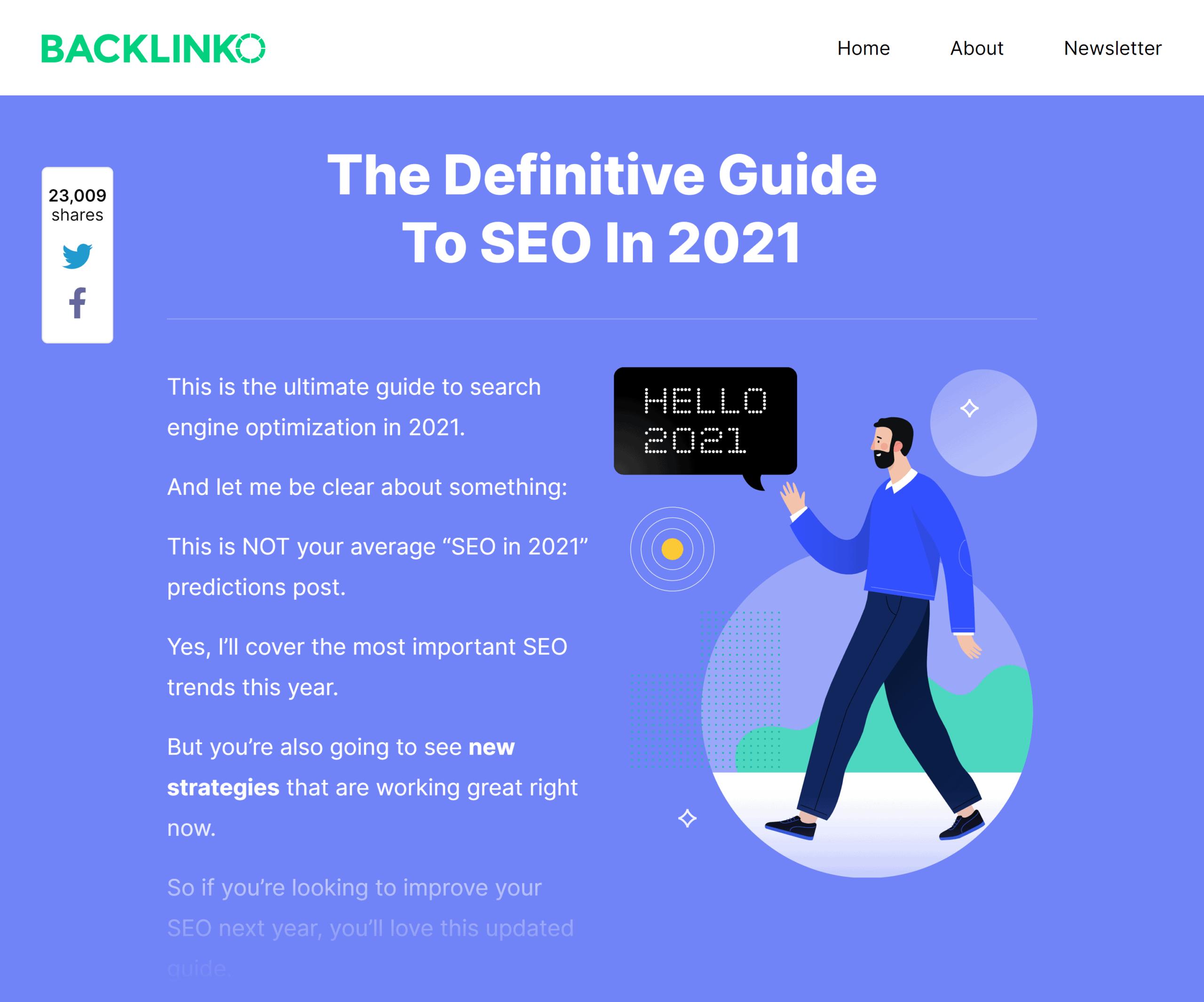 Backlinko – SEO this year