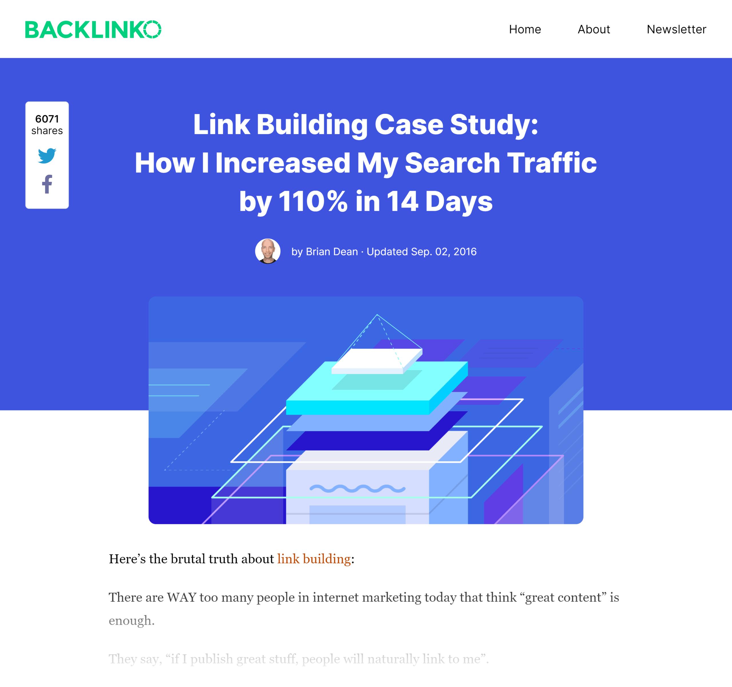 Backlinko – Skyscraper technique post