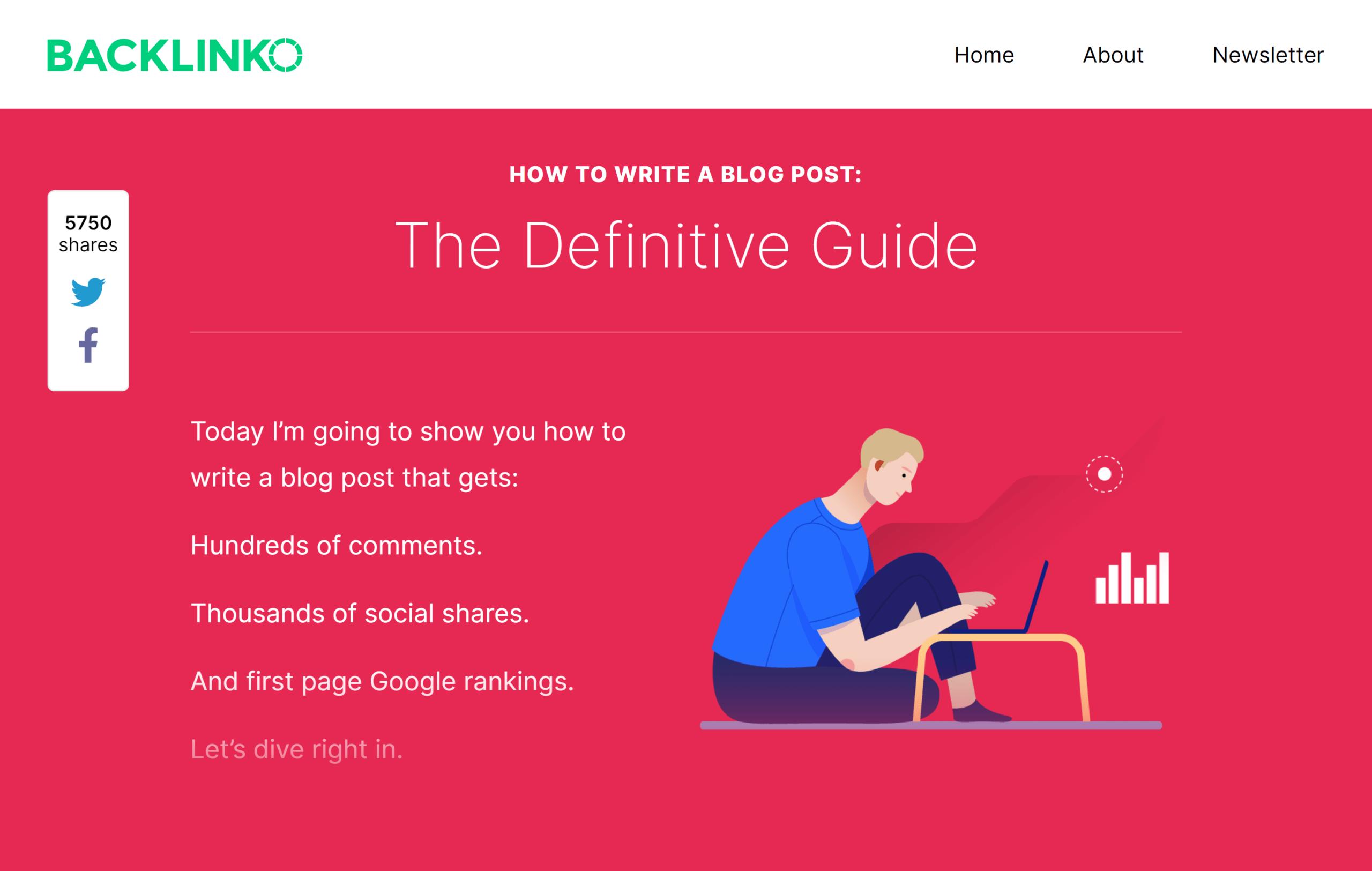 Backlinko – Write a blog post