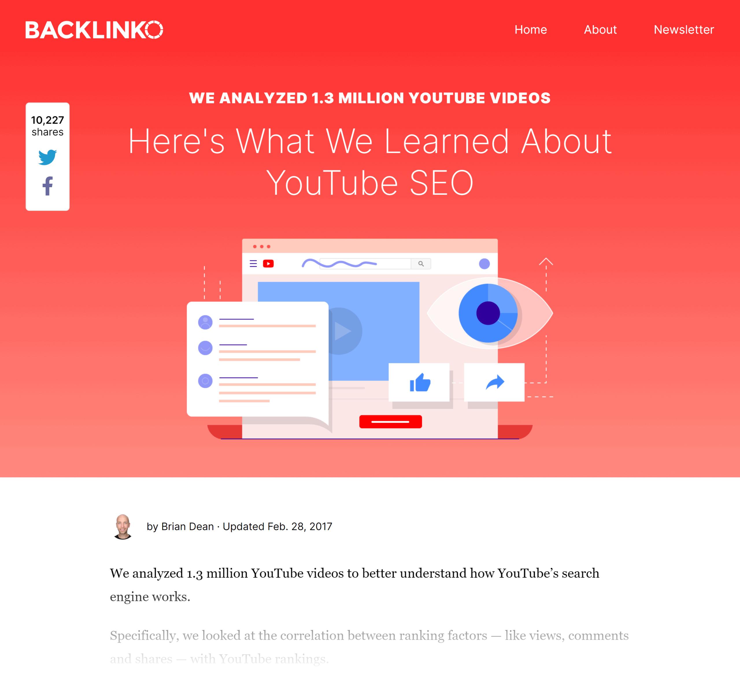 Backlinko – YouTube ranking factors study