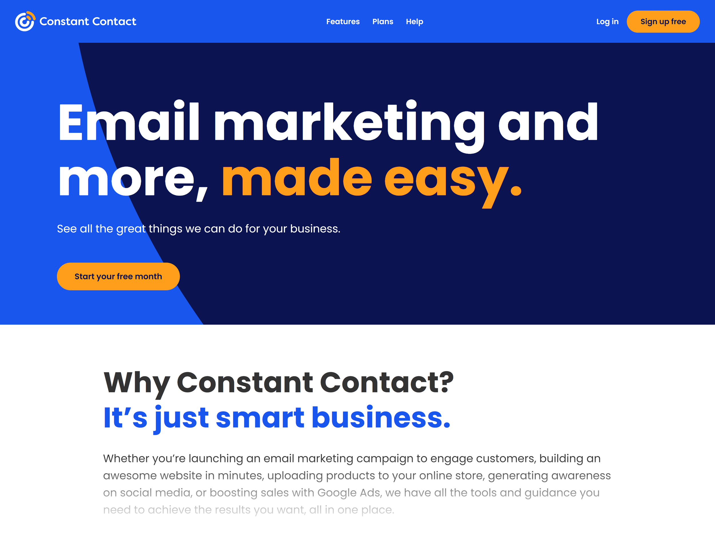 Constant Contact – Homepage
