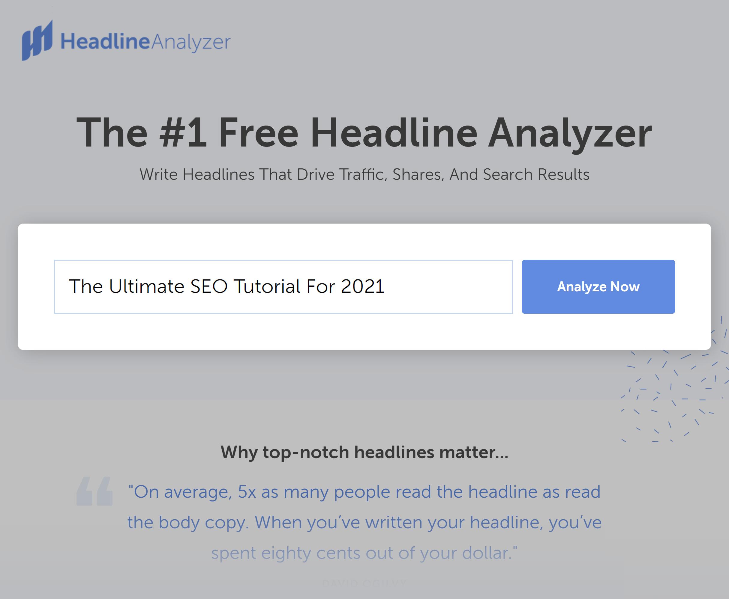 Coschedule – Headline Analyzer