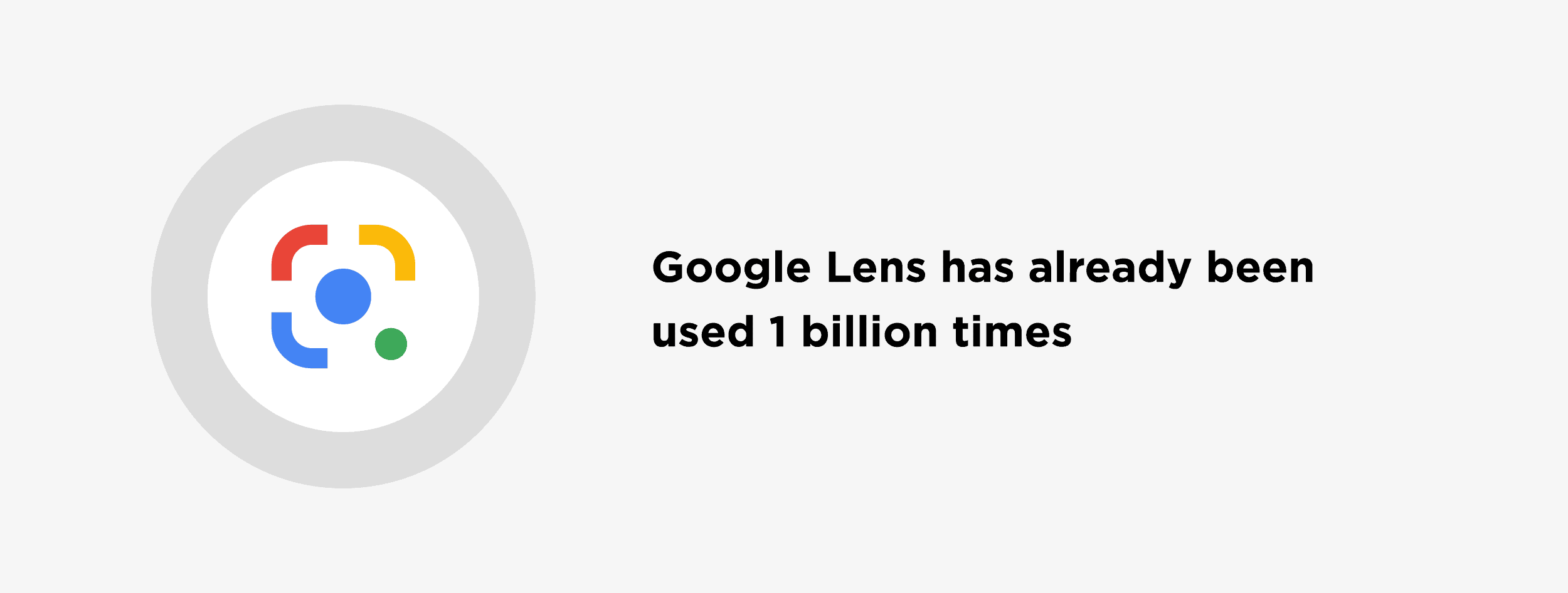 Google Lens has already been used 1 billion times