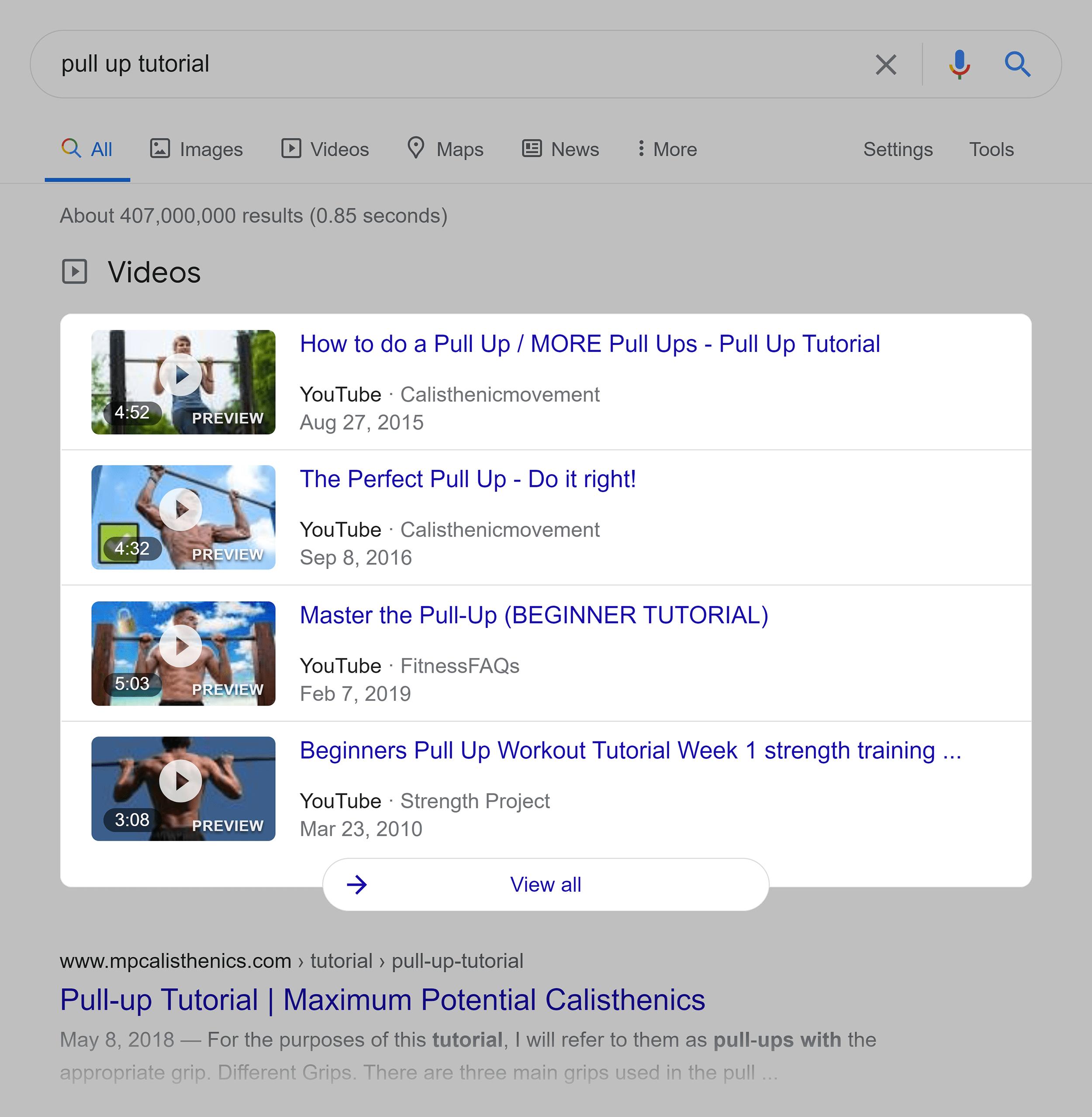 Google SERP – Pull up tutorial
