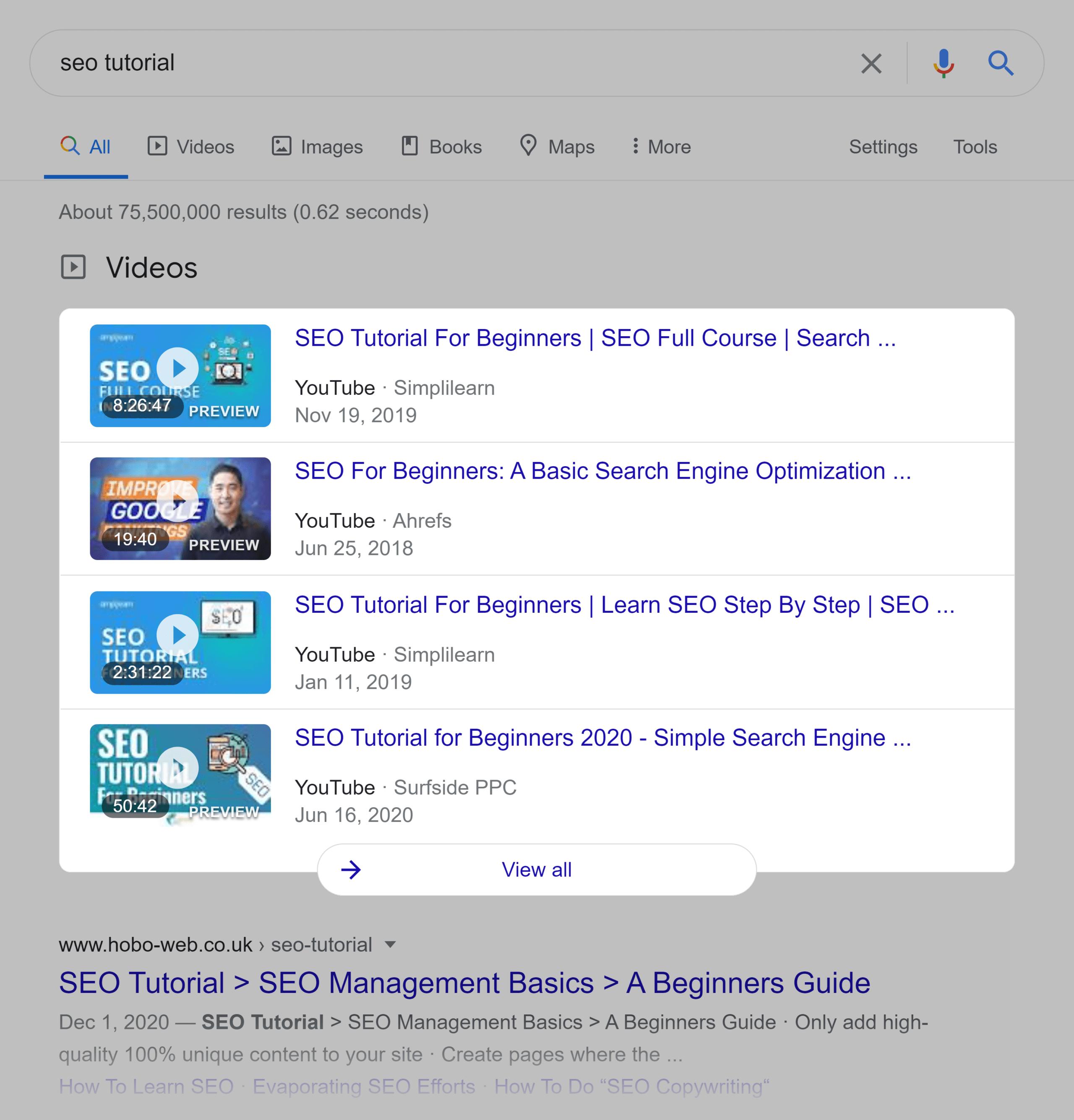 Google SERP – SEO tutorial