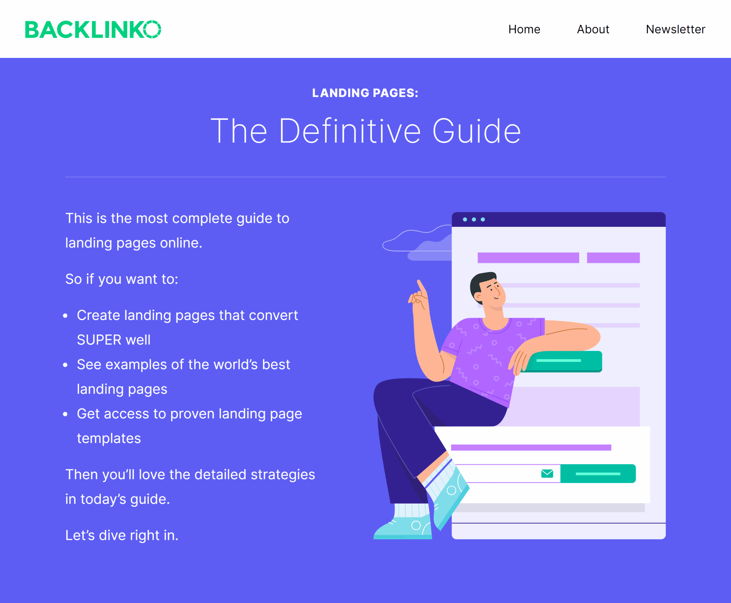 Landing page guide – Intro