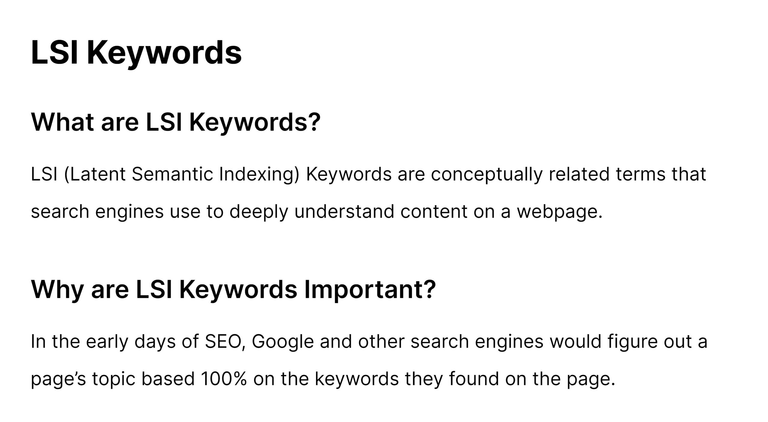 LSI keywords post – Entries