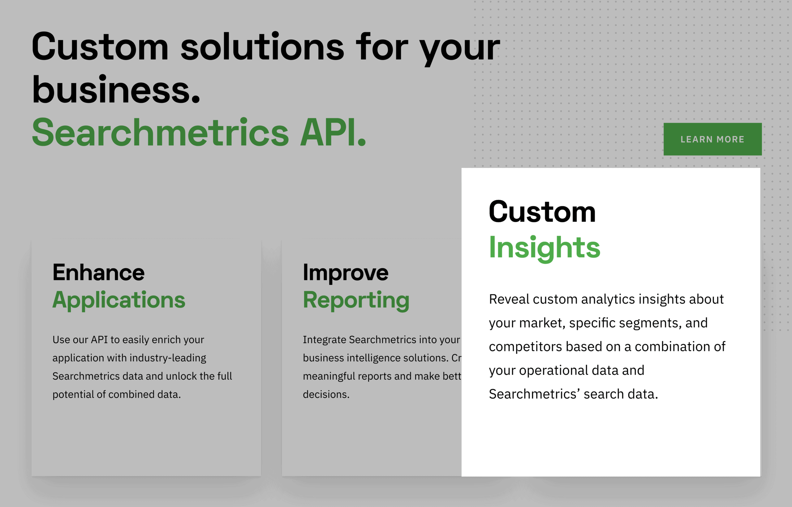 Searchmetrics – Custom Insights