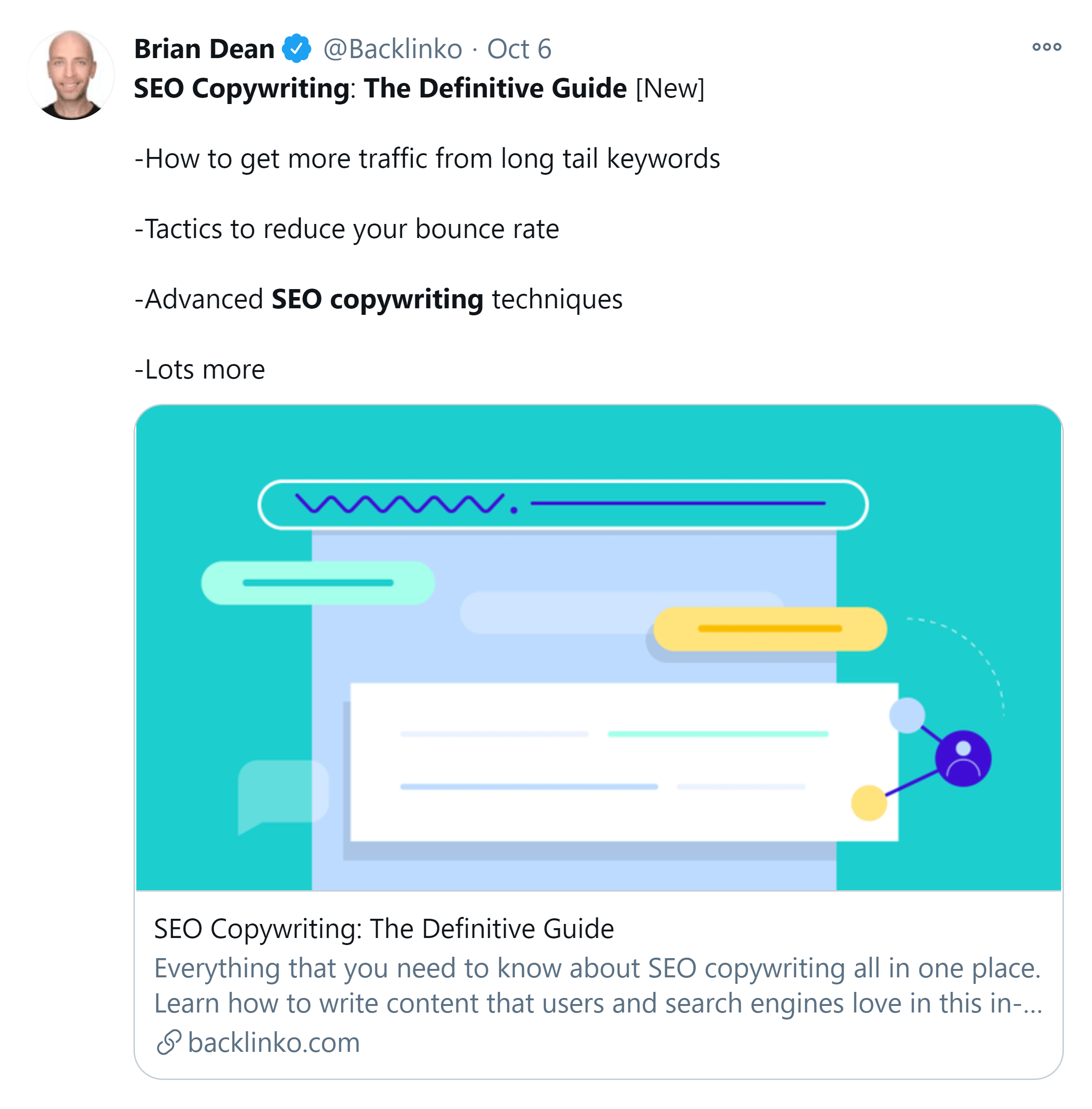 SEO copywriting – Relaunch tweet