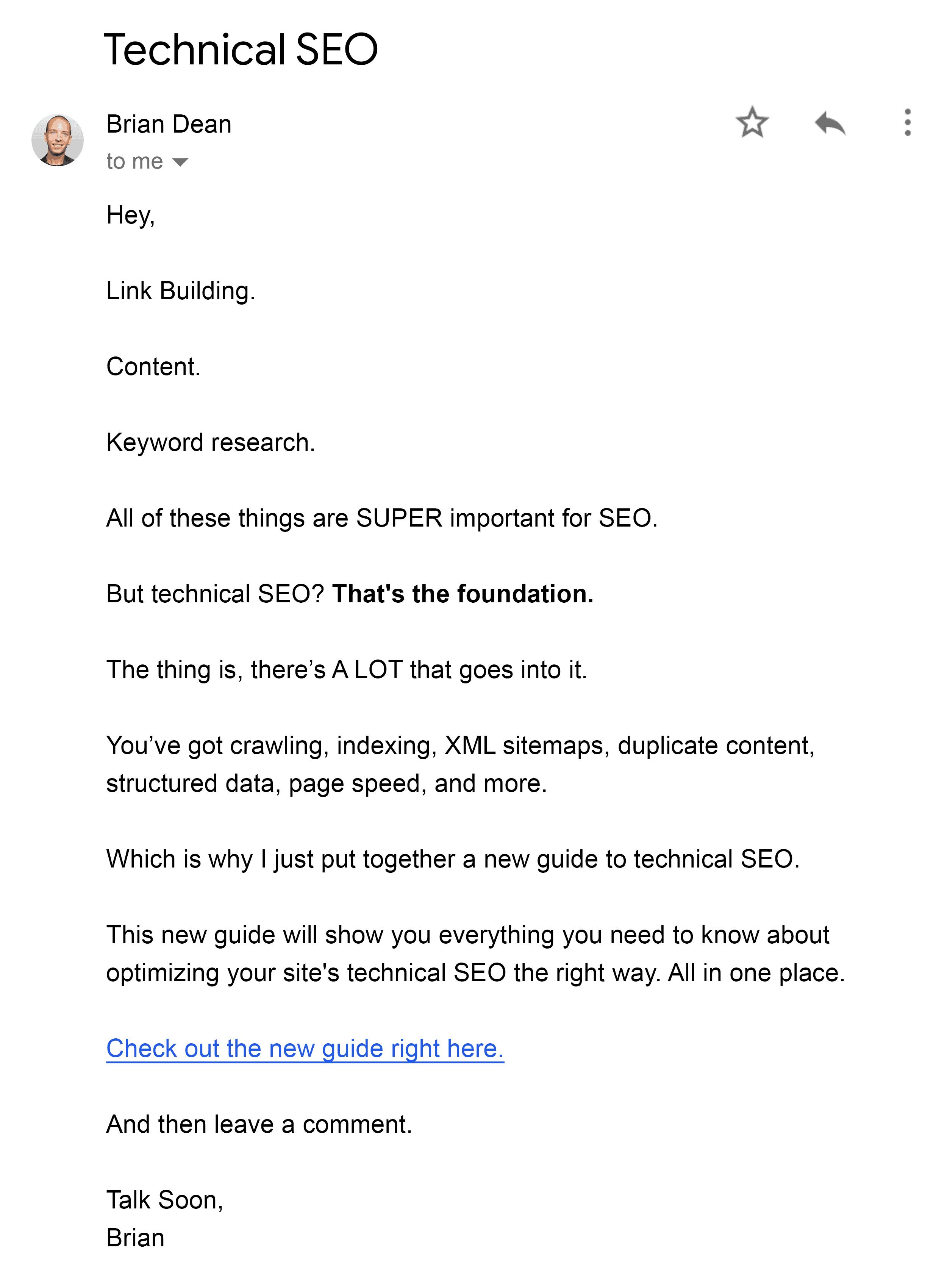 Technical SEO newsletter