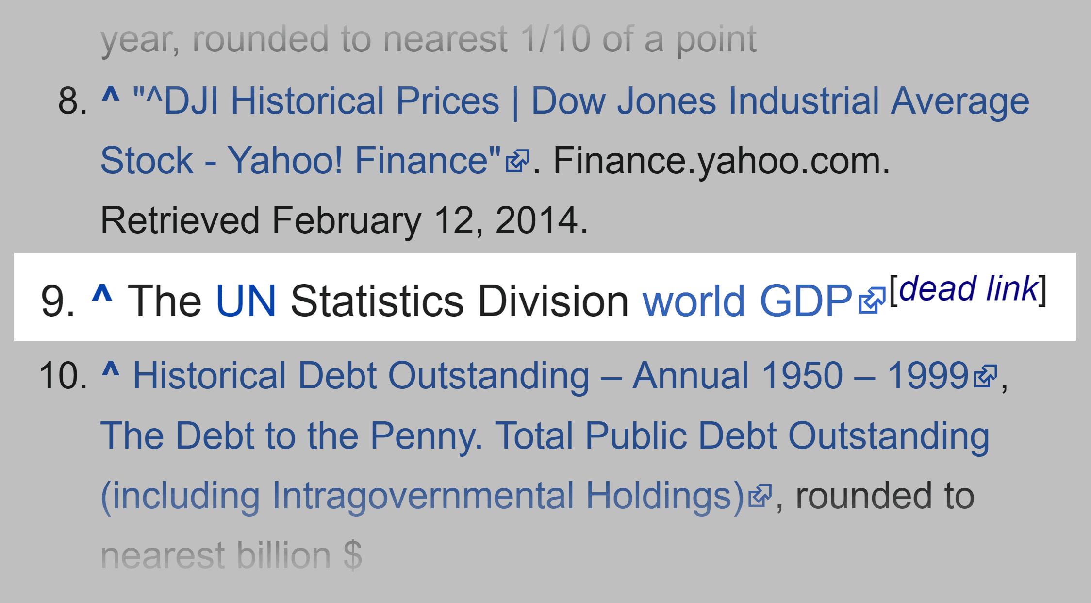 Wikipedia – Dead link