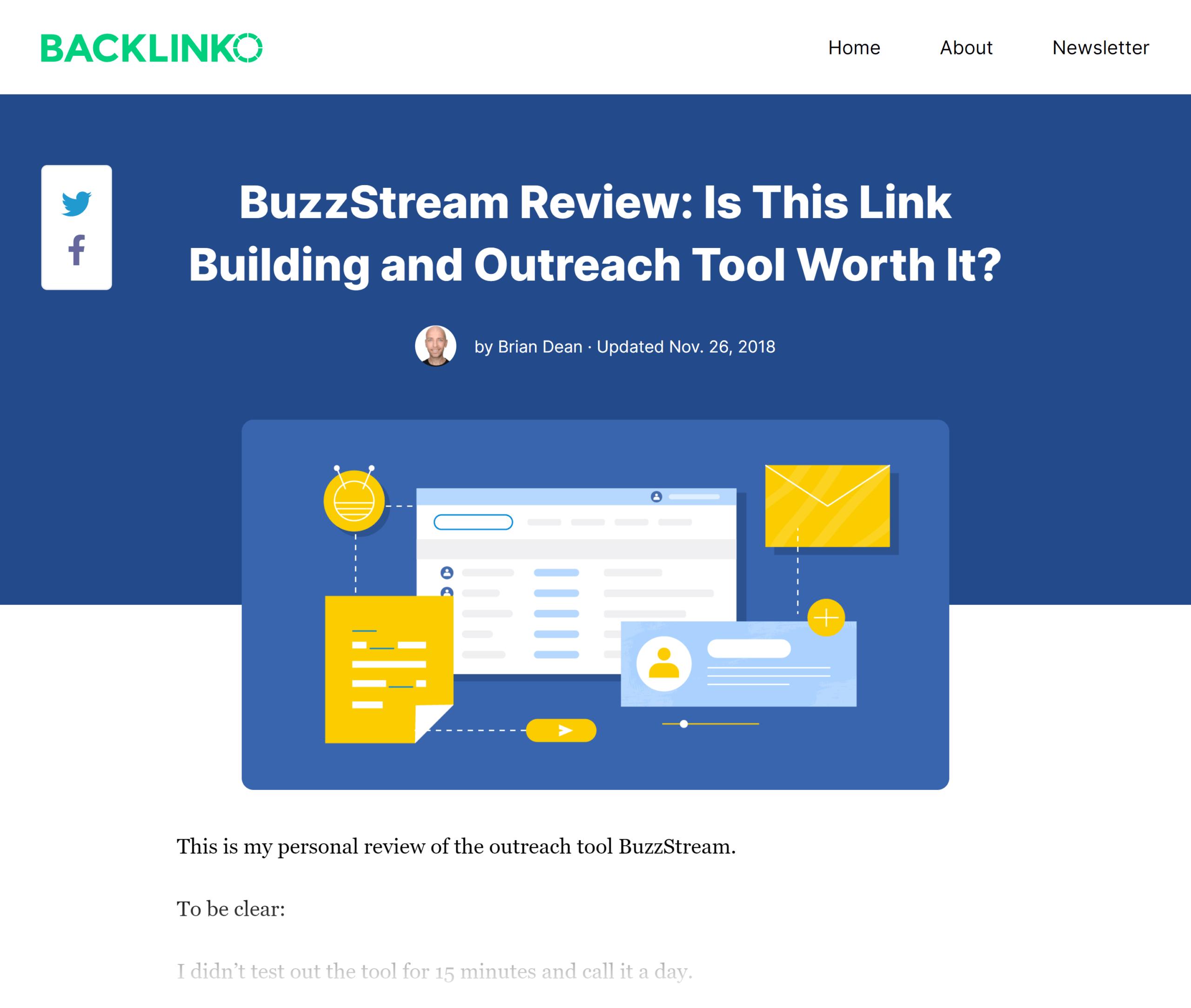 Backlinko – BuzzStream outreach
