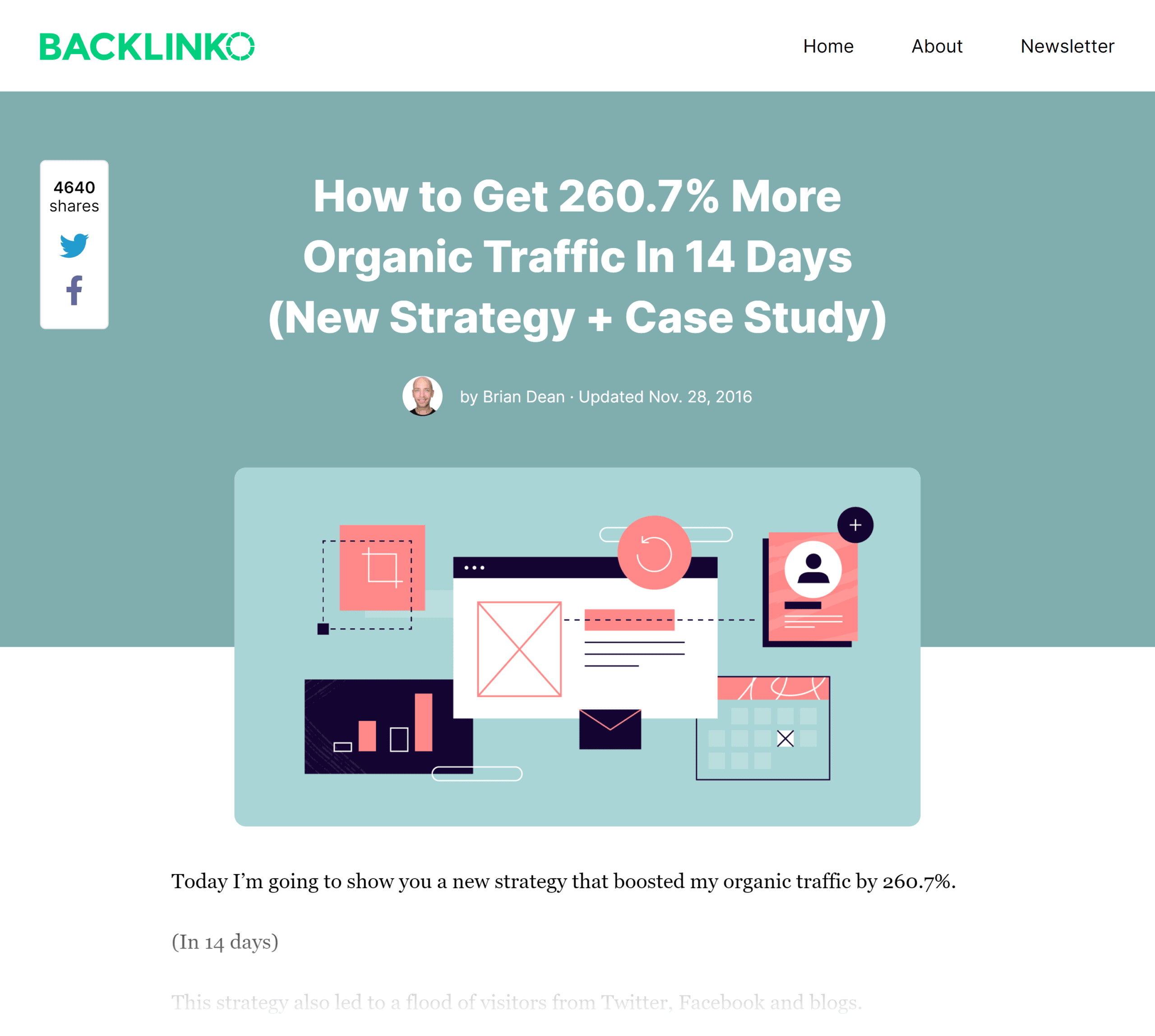 Backlinko – Content relaunch