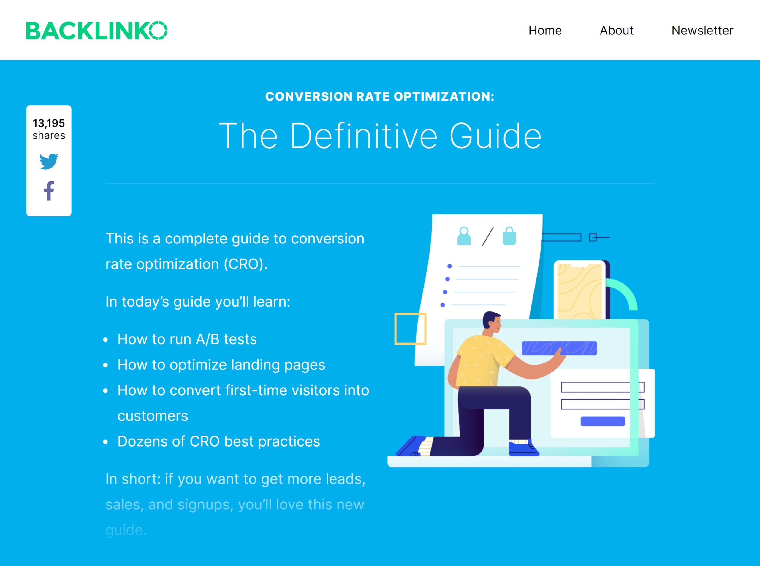 Backlinko – Conversion rate optimization