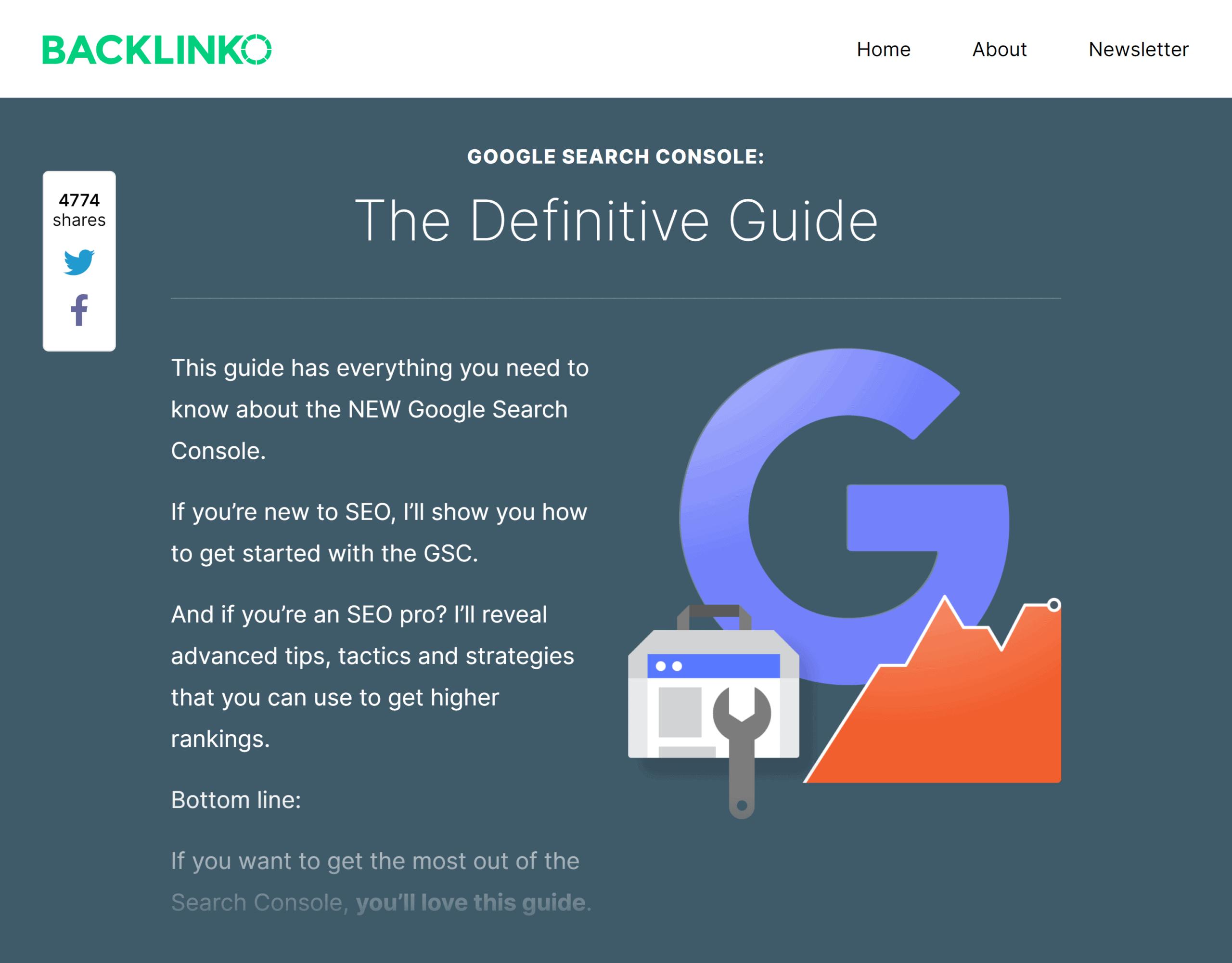 Backlinko – Google Search Console