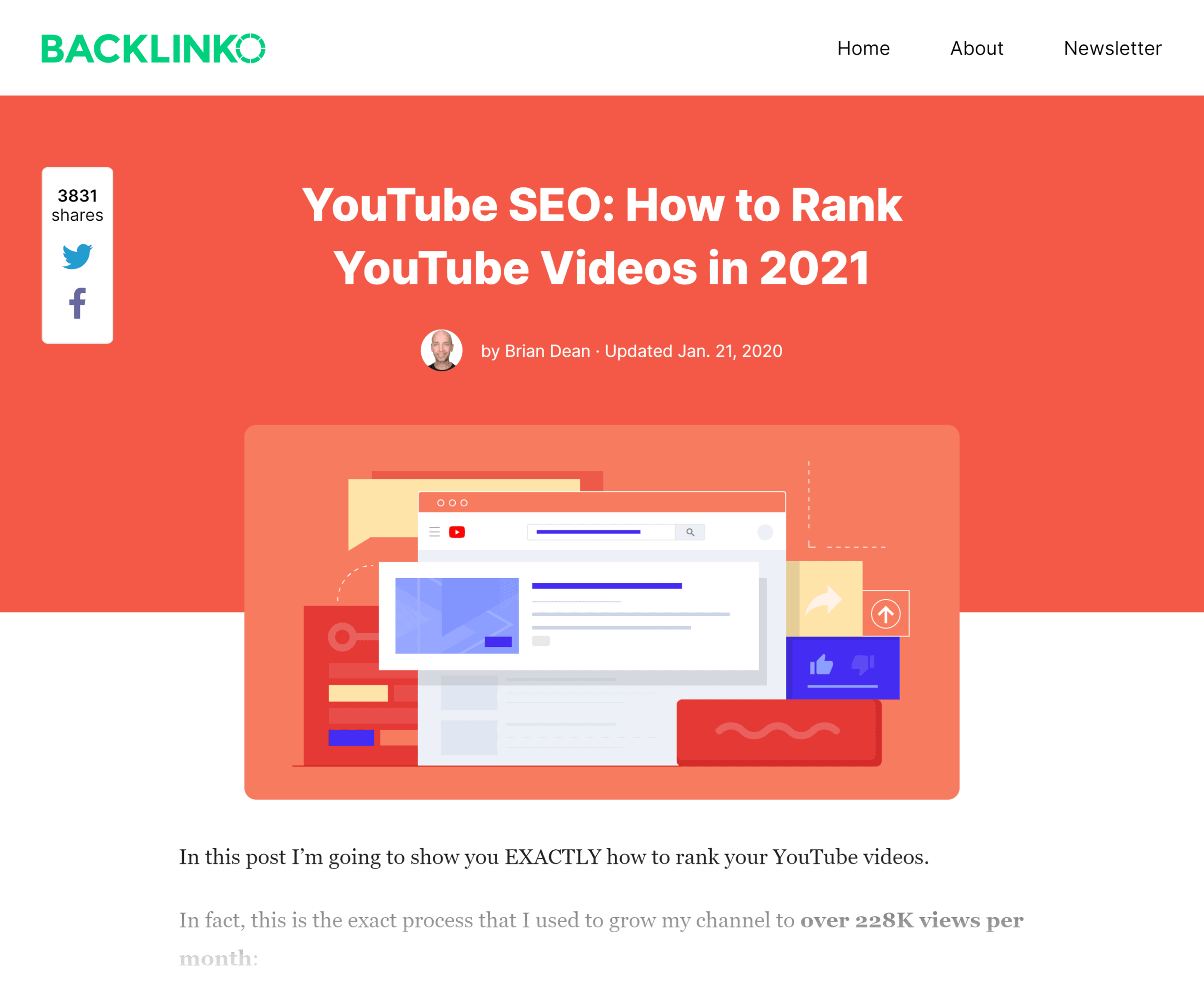 Backlinko – How to rank YouTube videos