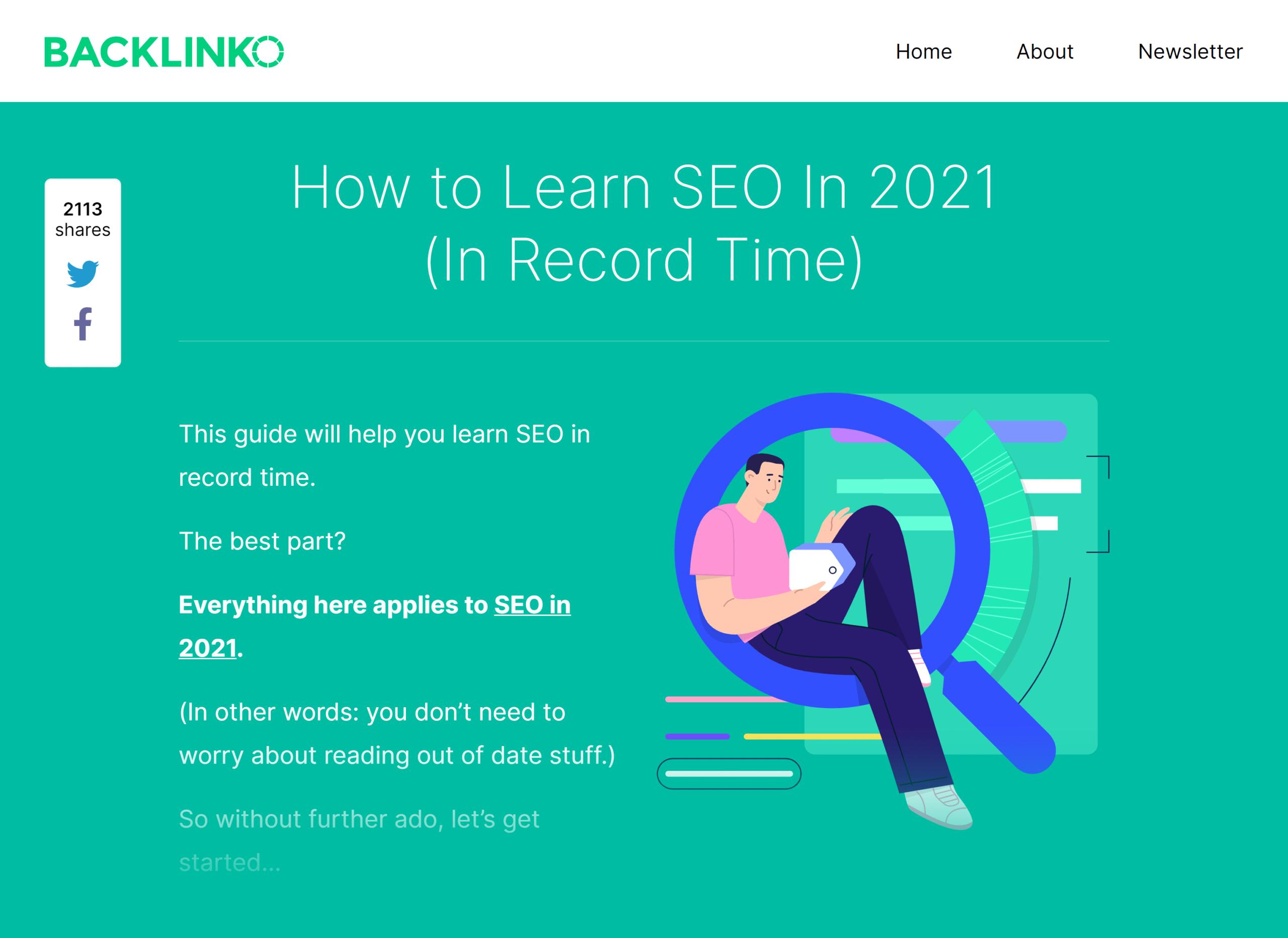 Backlinko – Learn SEO fast