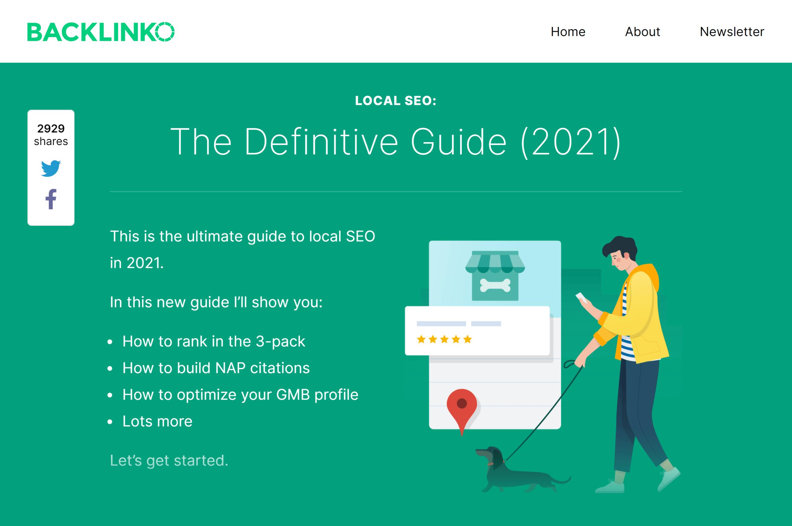 Backlinko - راهنمای محلی SEO