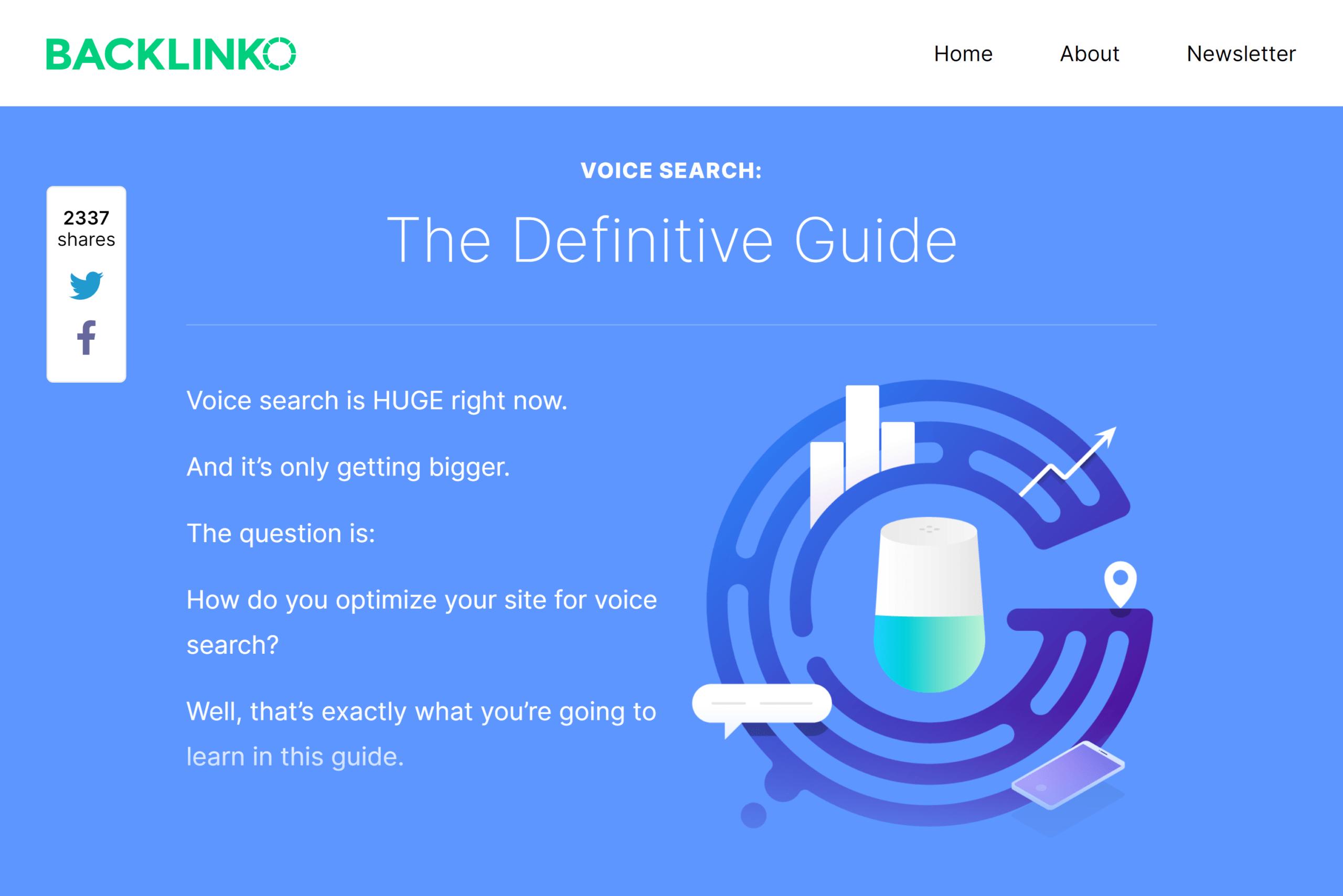 Backlinko – Optimize for voice search