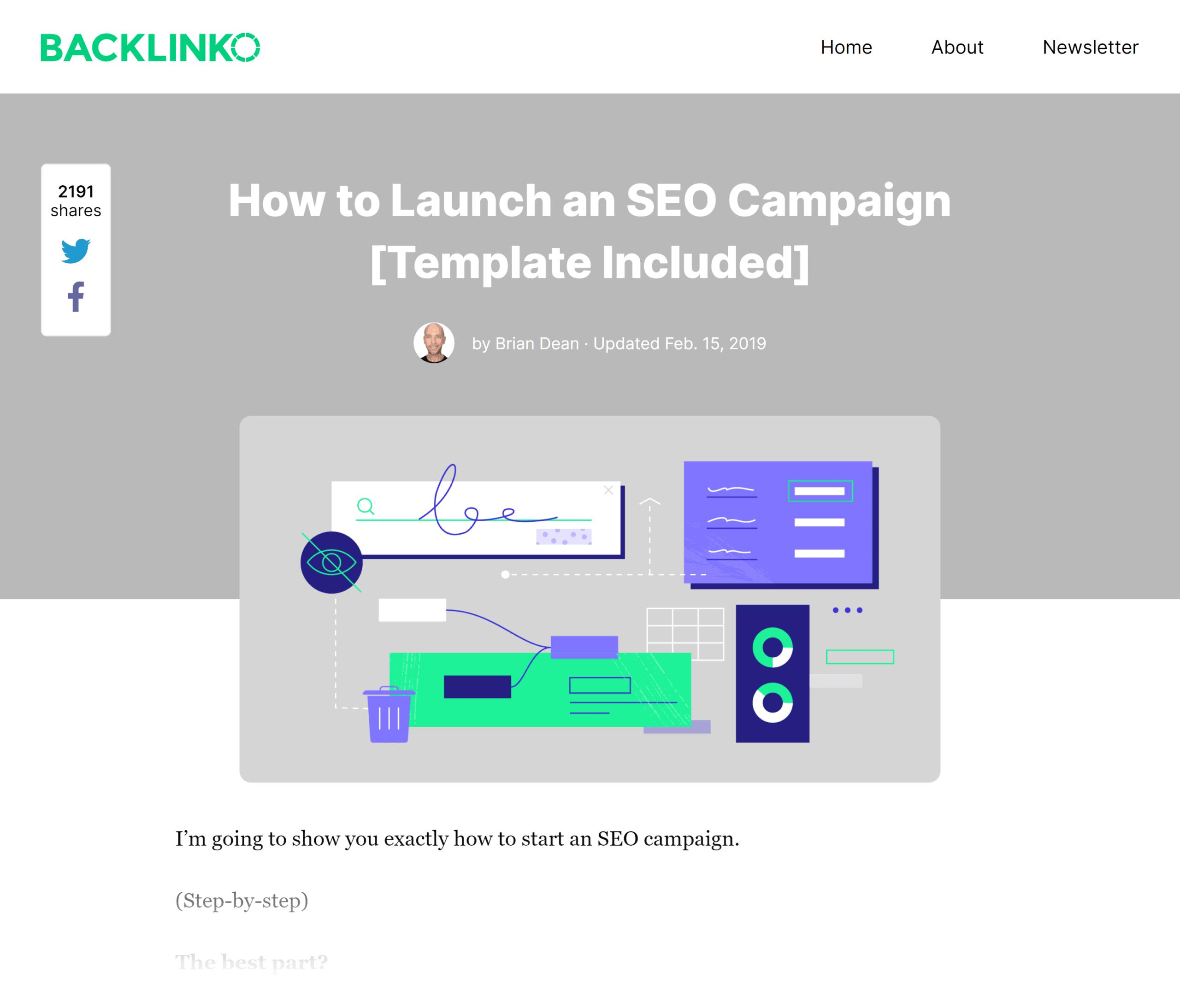 Backlinko – SEO campaign