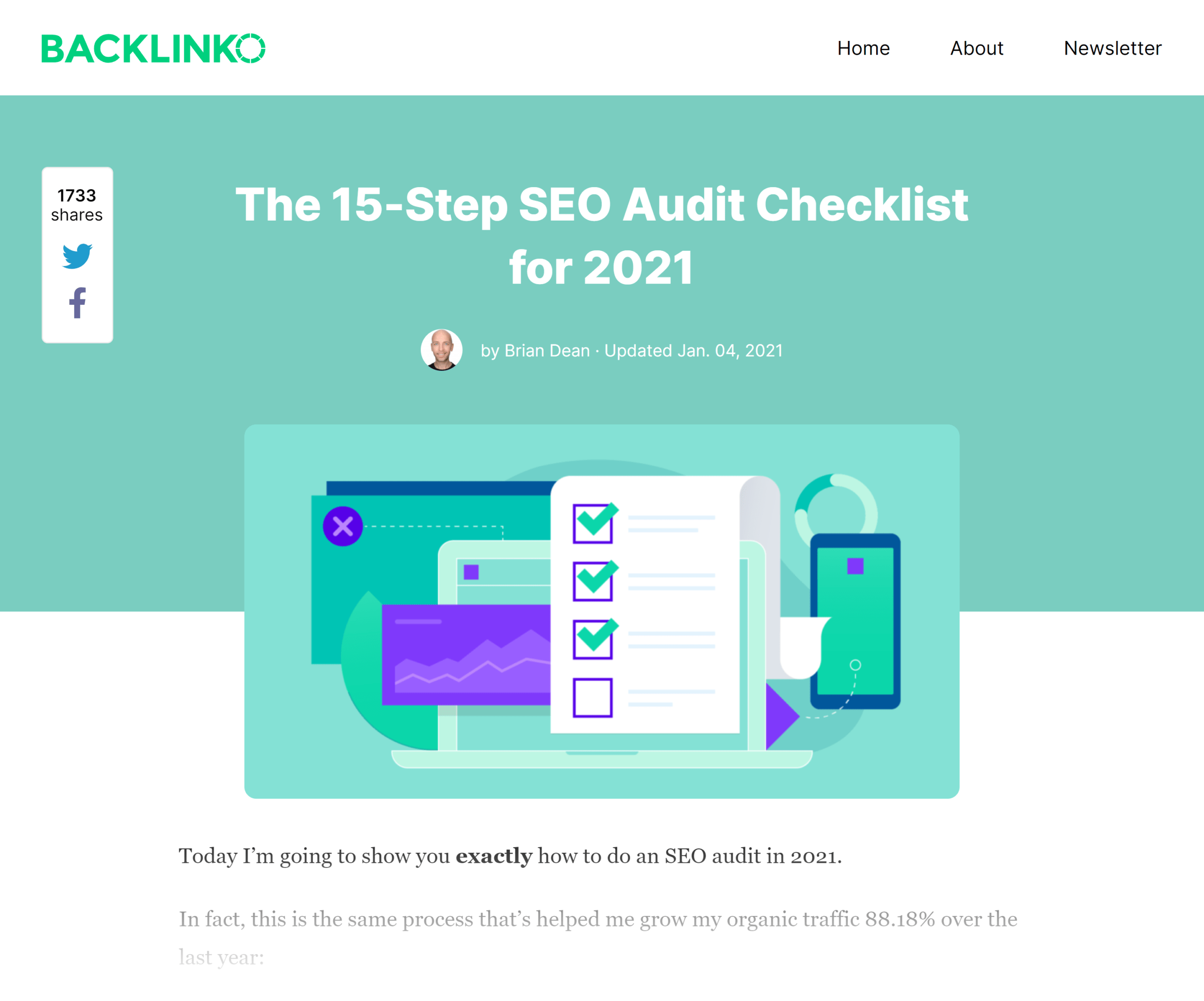 Backlinko – SEO site audit