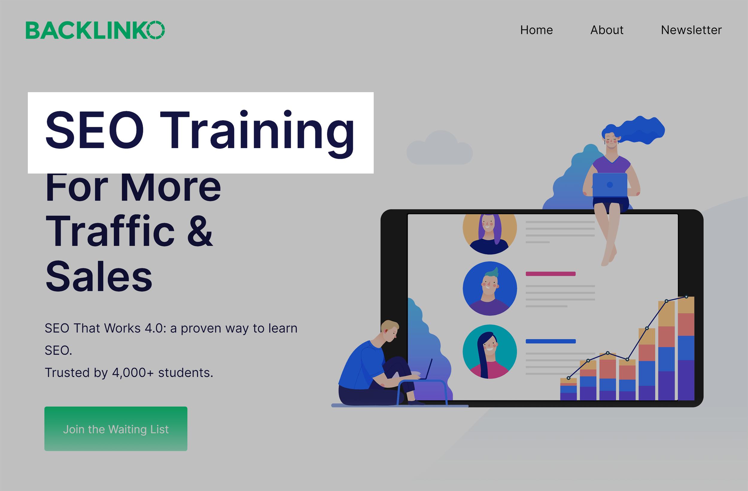 Backlinko – SEO training