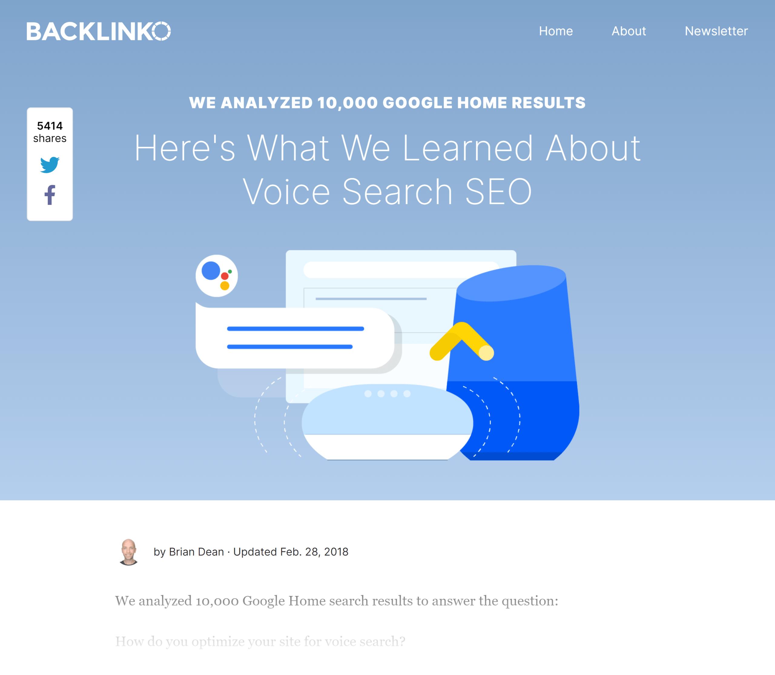 Backlinko – Voice search SEO study