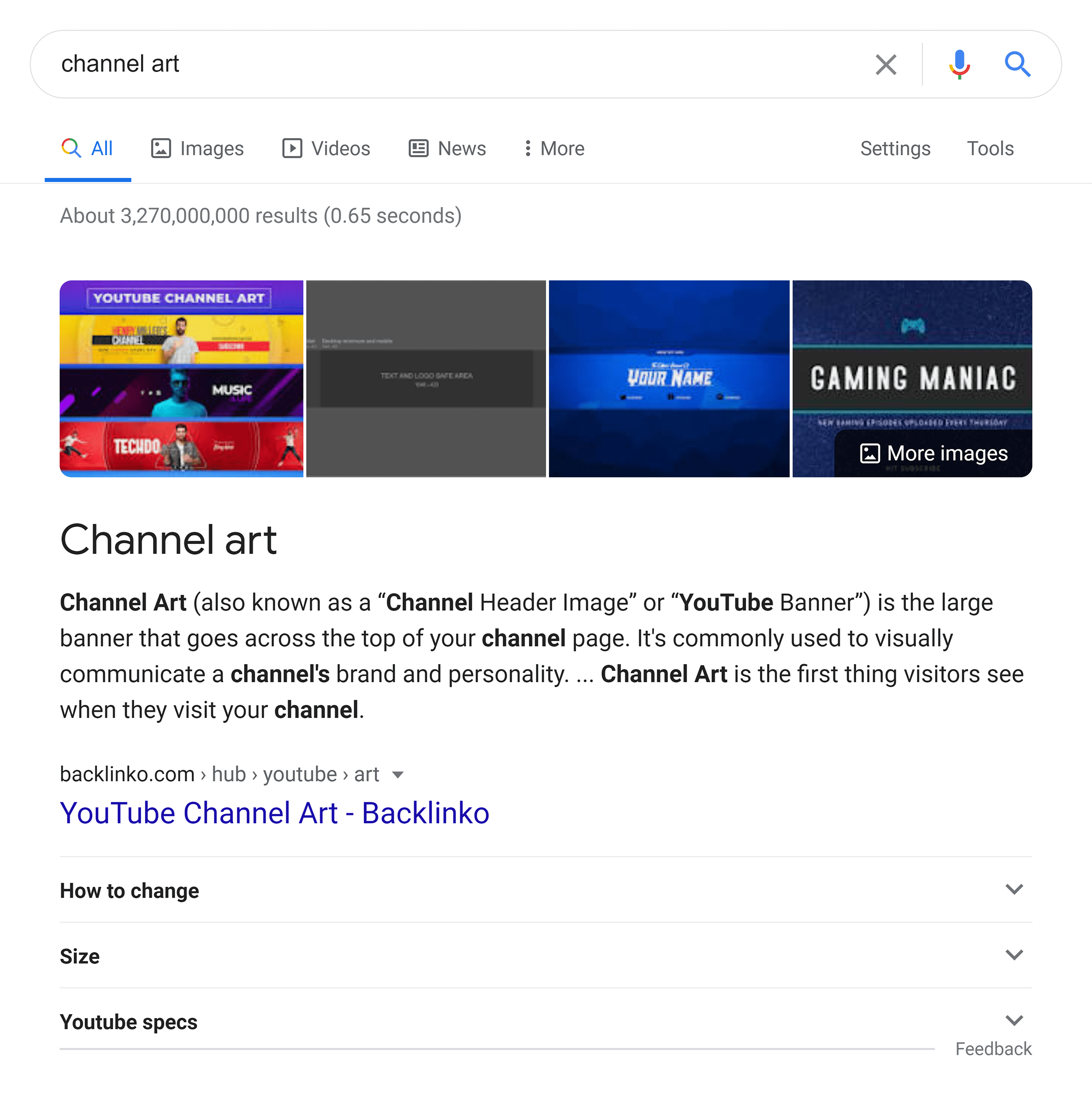 Channel art – Featured snippet