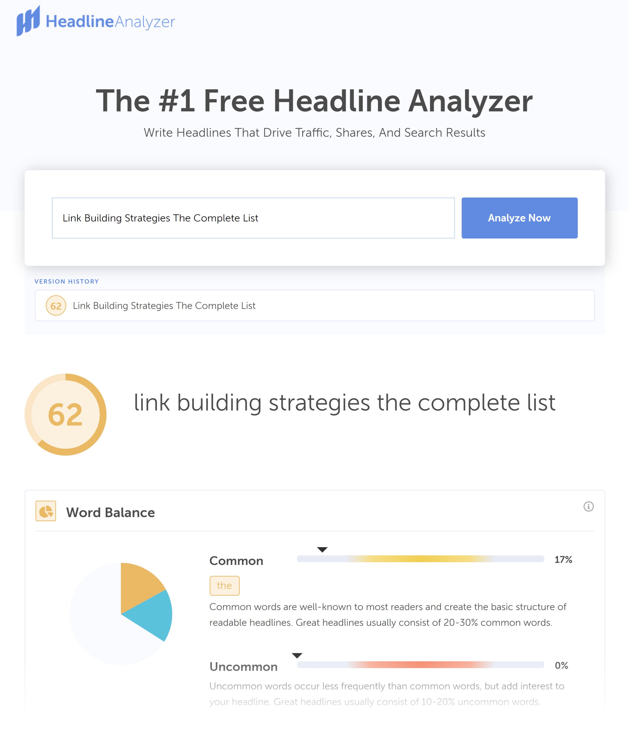 CoSchedule – Headline Analyzer – Result