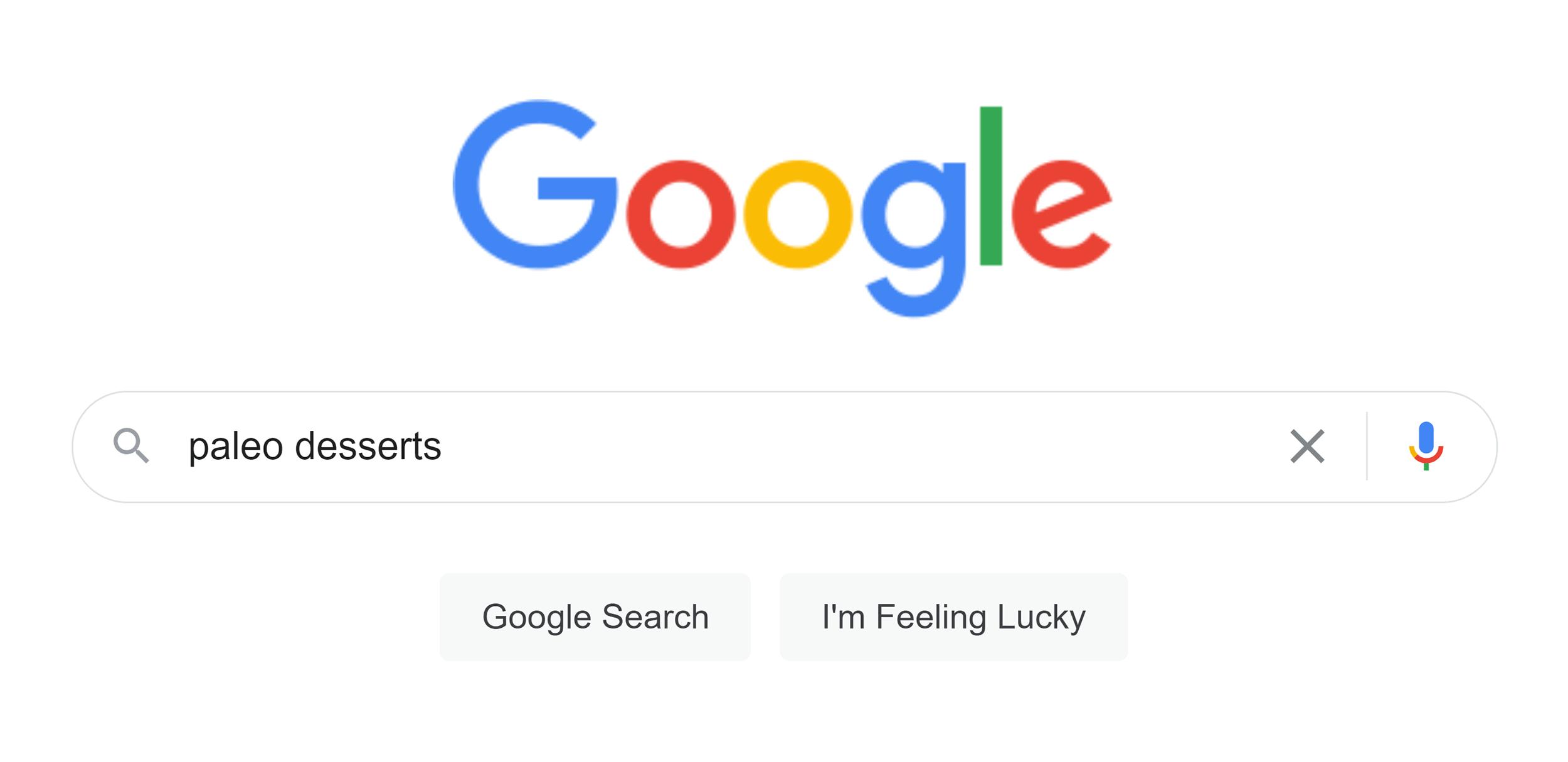 Google search – Paleo desserts